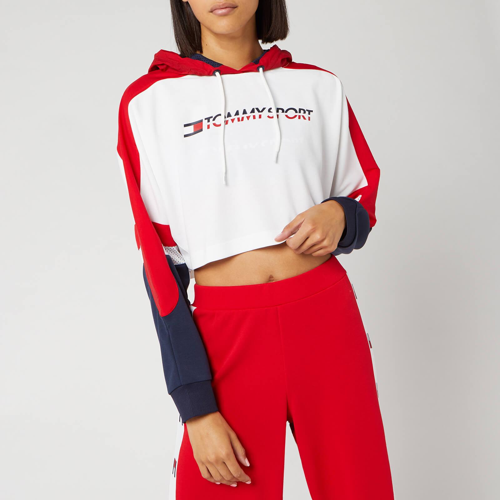 Tommy Sport Women's Flag Tape Crop Hoody - True Red - L