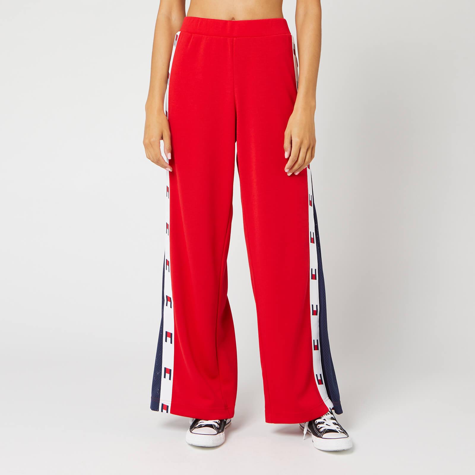 Tommy Sport Women's Flag Tape Flare Pants - True Red - L
