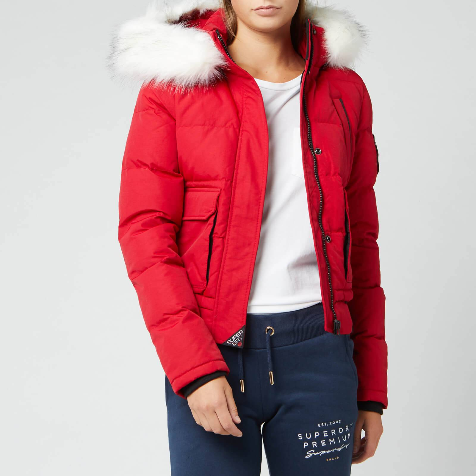 Superdry Women's Everest Ella Bomber Jacket - Chili Pepper - UK 8