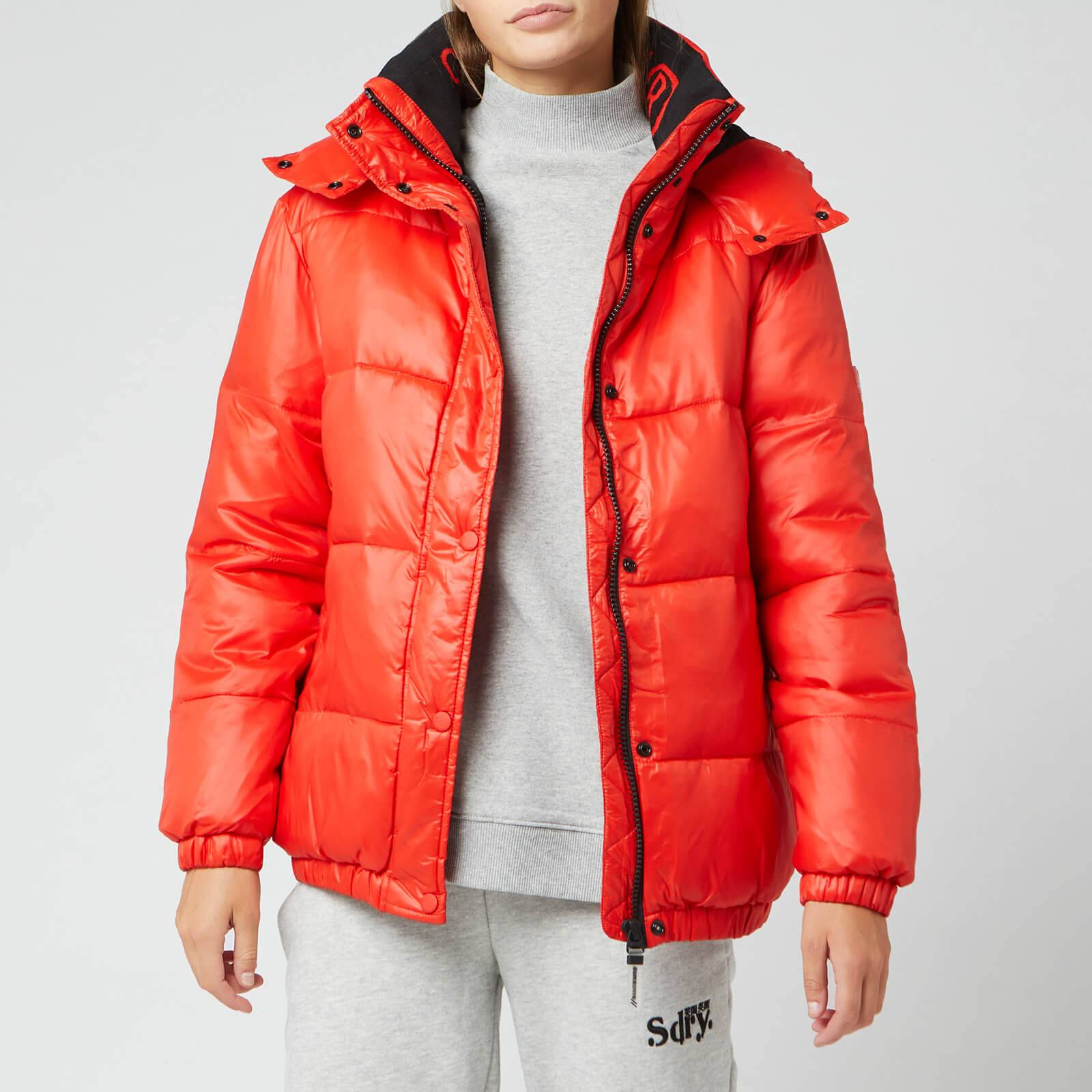 Superdry Women's Astrid Puffer Jacket - Apple Red - UK 14
