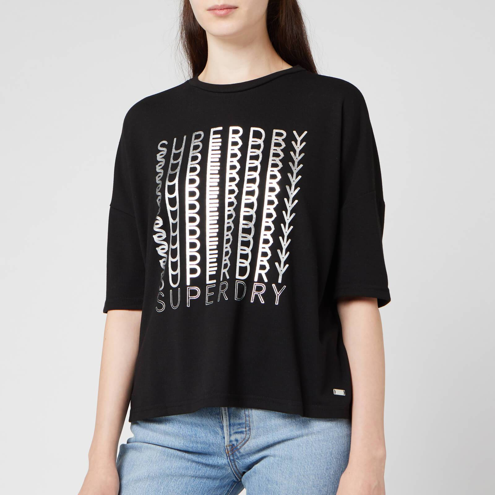 Superdry Women's Foil Graphic T-Shirt - Black - UK 14