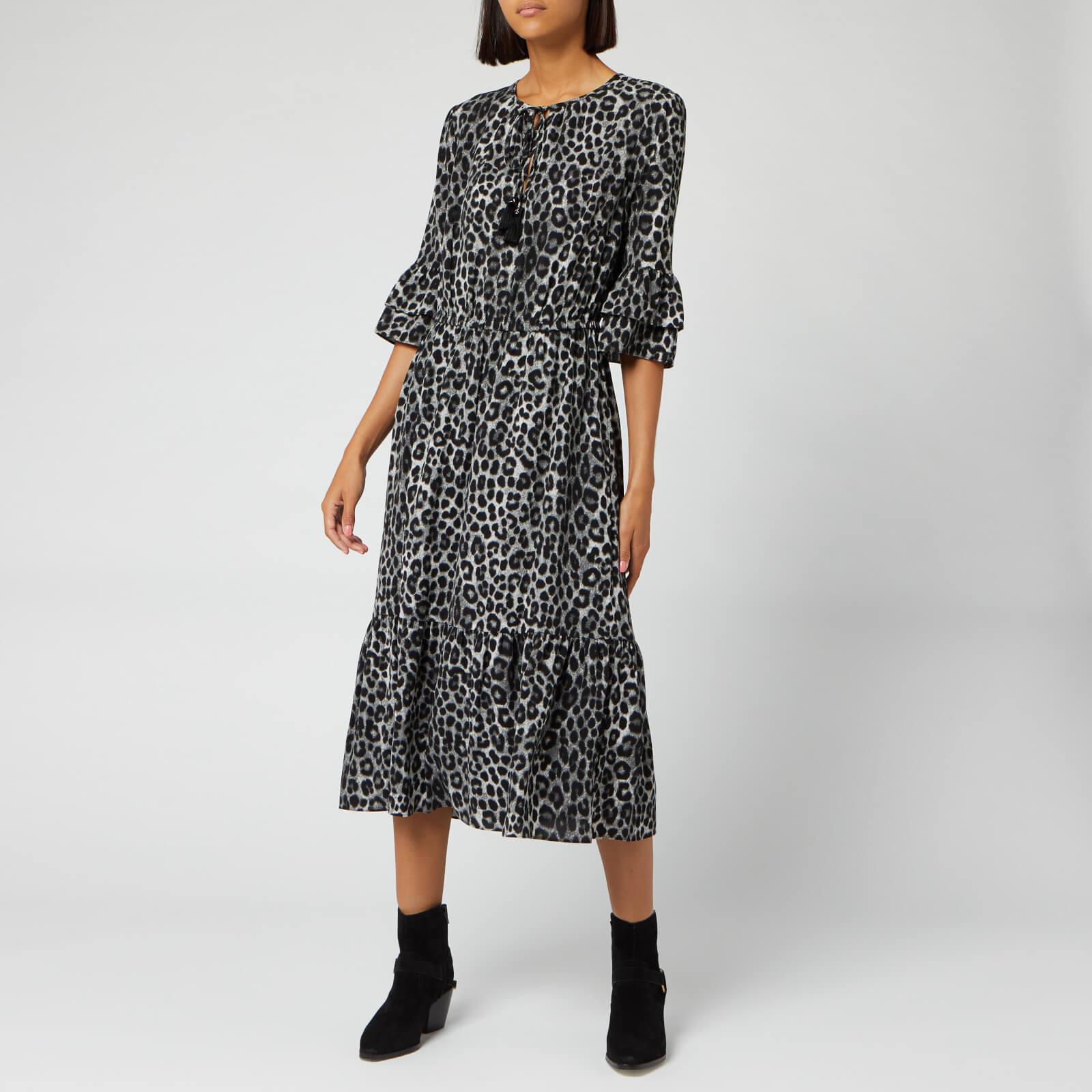 MICHAEL MICHAEL KORS Women's Mega Cheeta Dress - Gunmetal - US 6/UK 10
