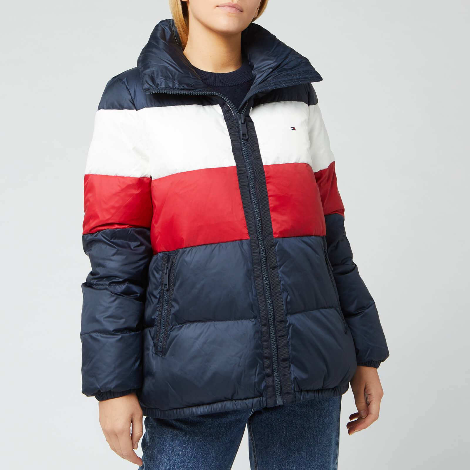 Tommy Hilfiger Women's Naomi Recycled Down Jacket - Rwb Colour Block - S