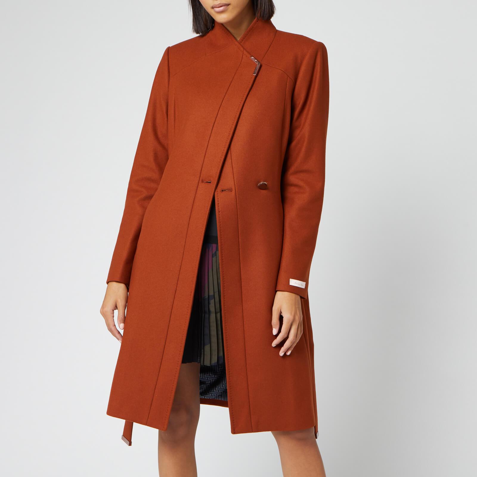 Ted Baker Women's Ellgenc Long Belted Wrap Coat - Tan - 1/UK 8