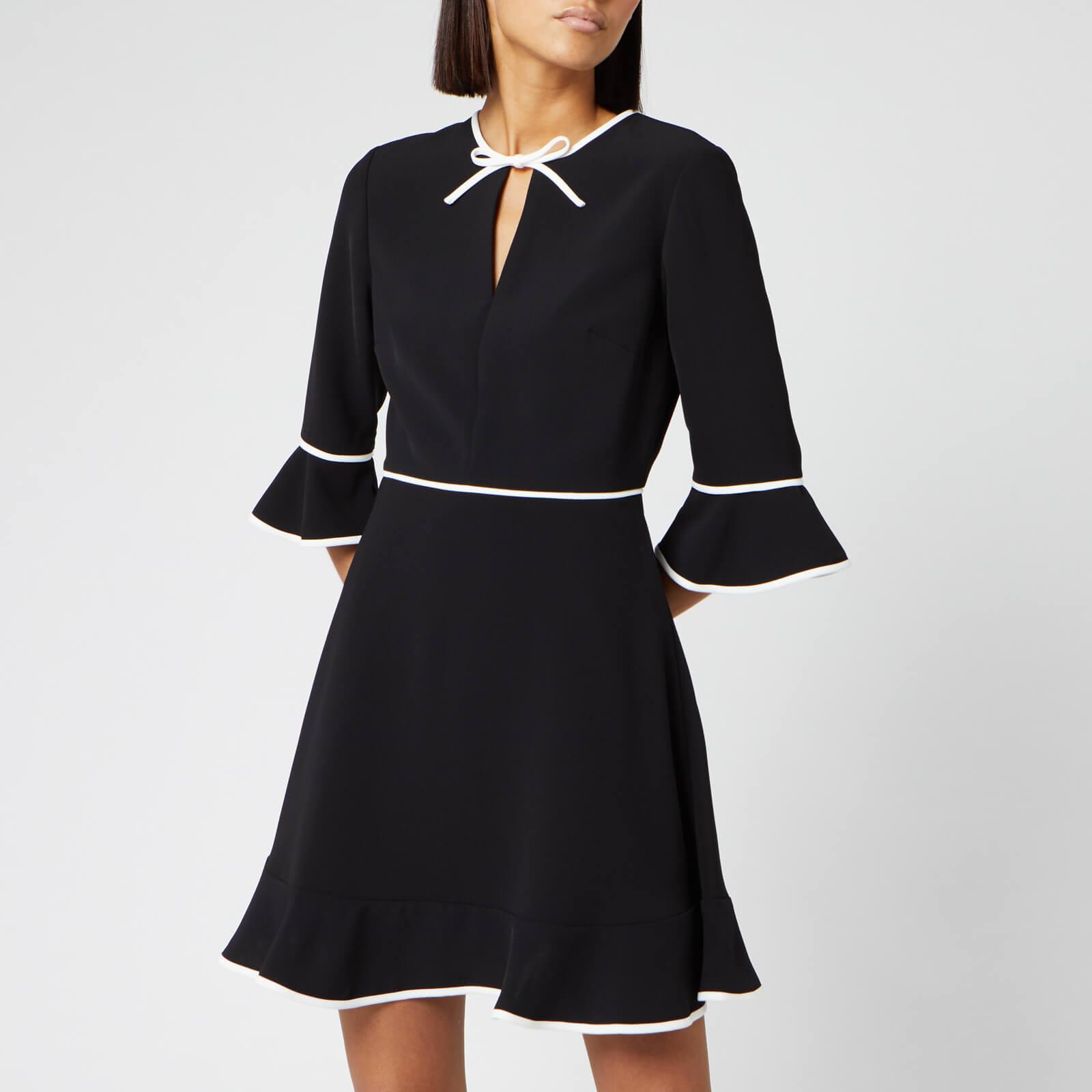 Ted Baker Women's Dindy Skater Dress with Bow Binding - Black - 2/UK 10