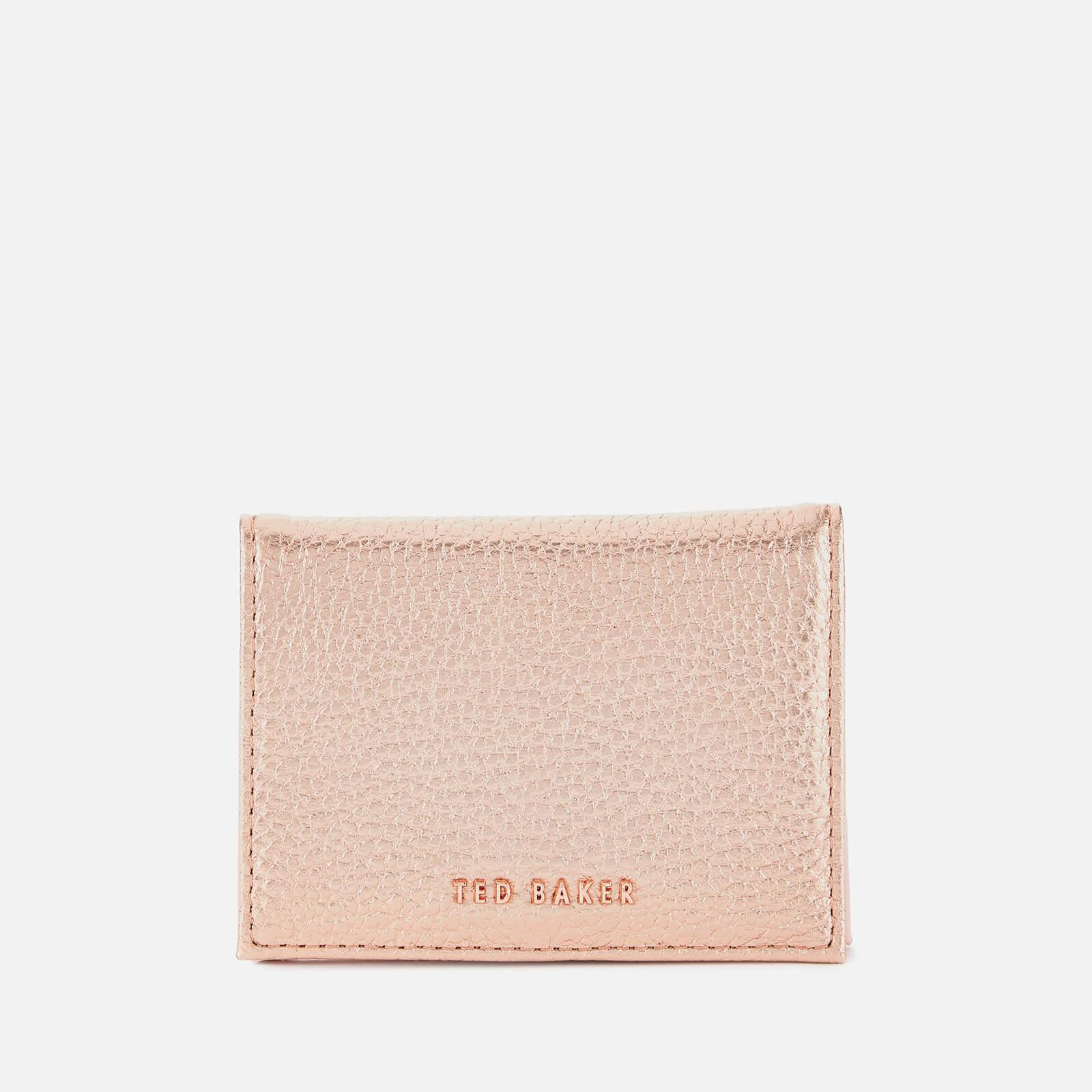 Ted Baker Women's Fayi Textured Oyster Card Holder - Rosegold