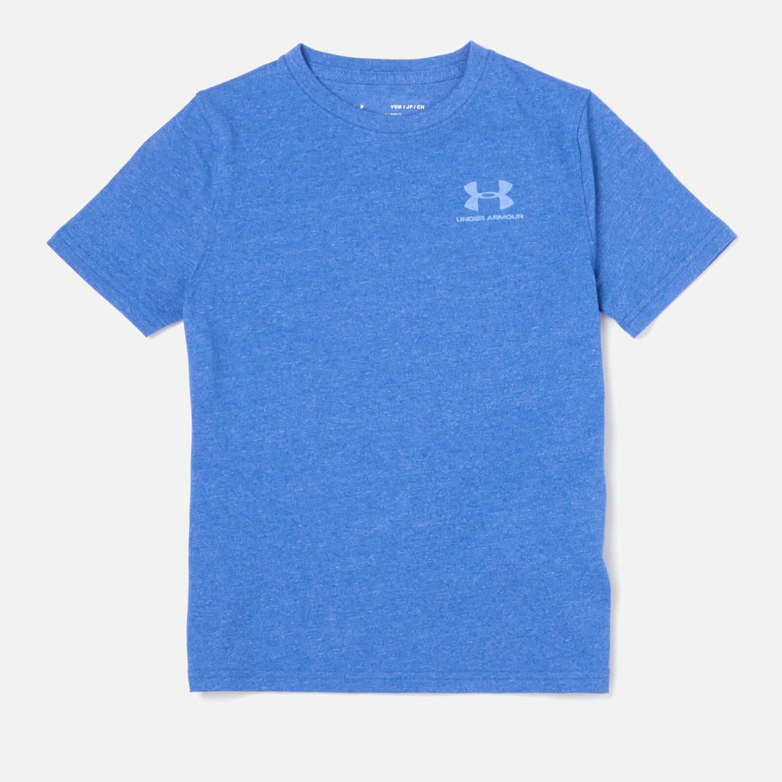 Under Armour Boys' Short Sleeve Cotton T-Shirt - Royal - XS - Blue