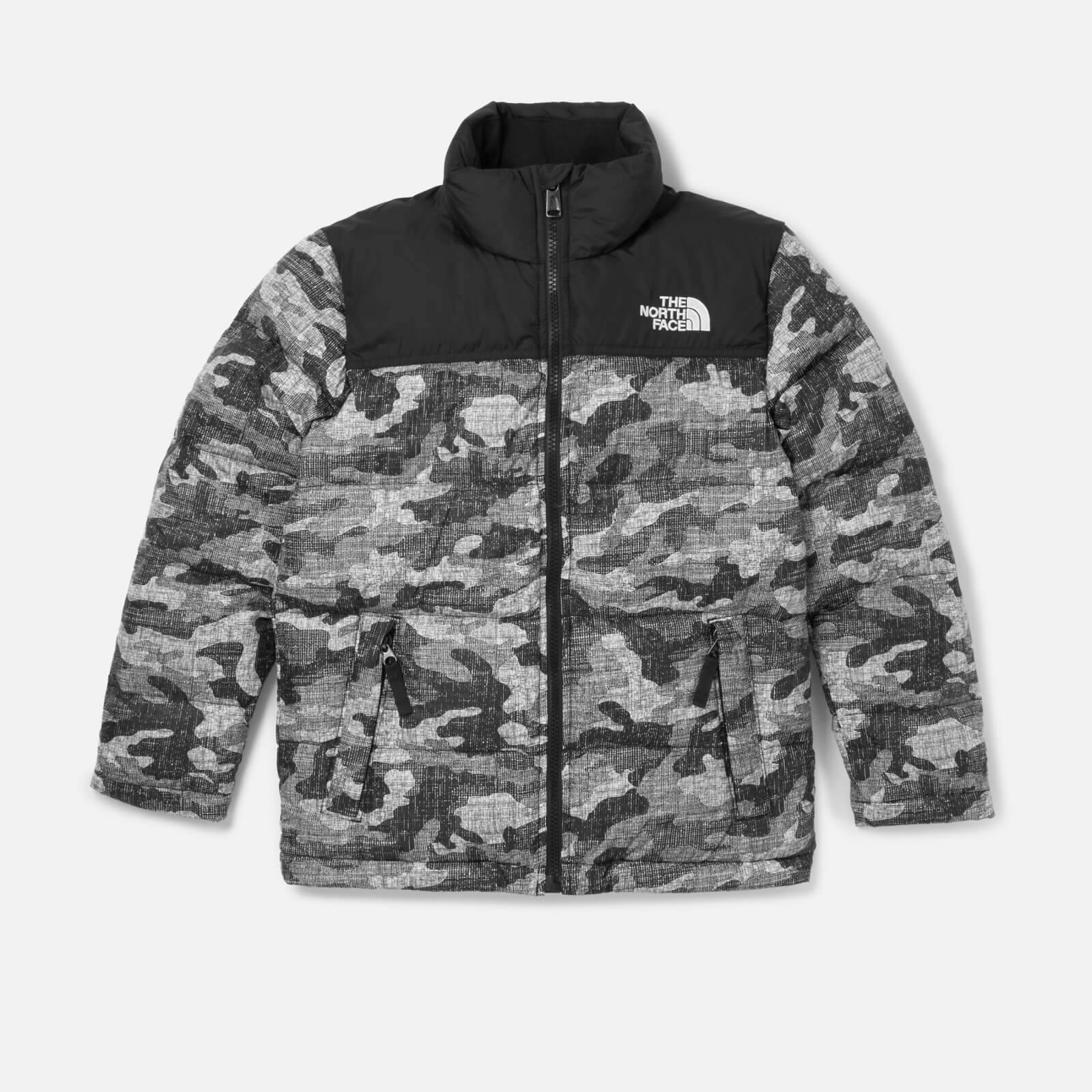 The North Face Boys' Nuptse Down Jacket - TNF Black Textured Camo Print - 6 years/XS - Black