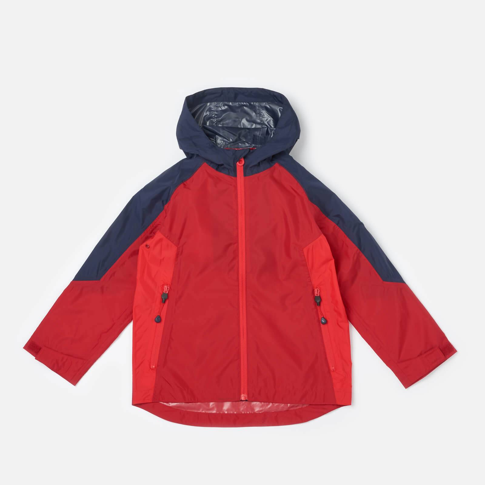 Joules Boys' Dalton Waterproof Shell Jacket - Red - 5 Years - Red