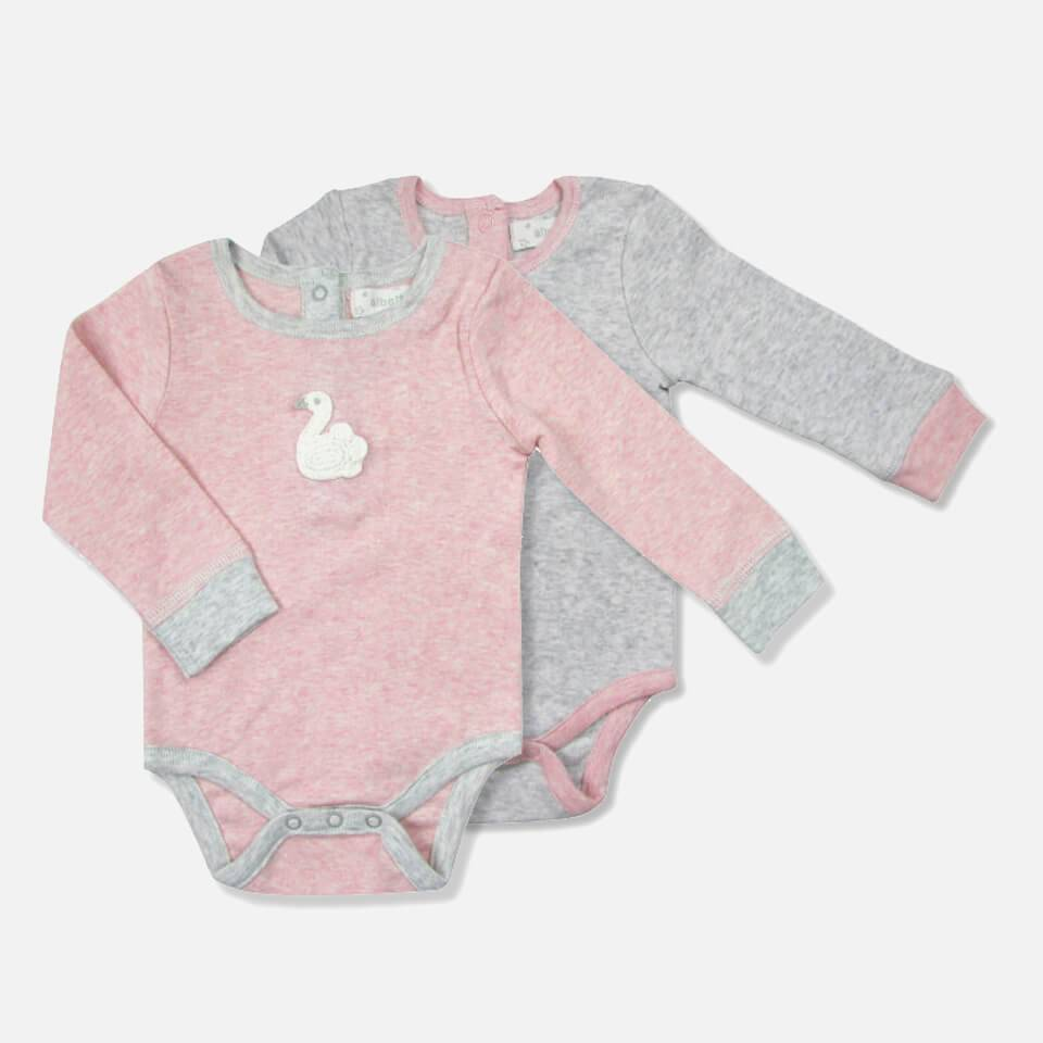 Albetta Set of 2 Mini Baby Vests - Bunny and Swan - 0-3 Months