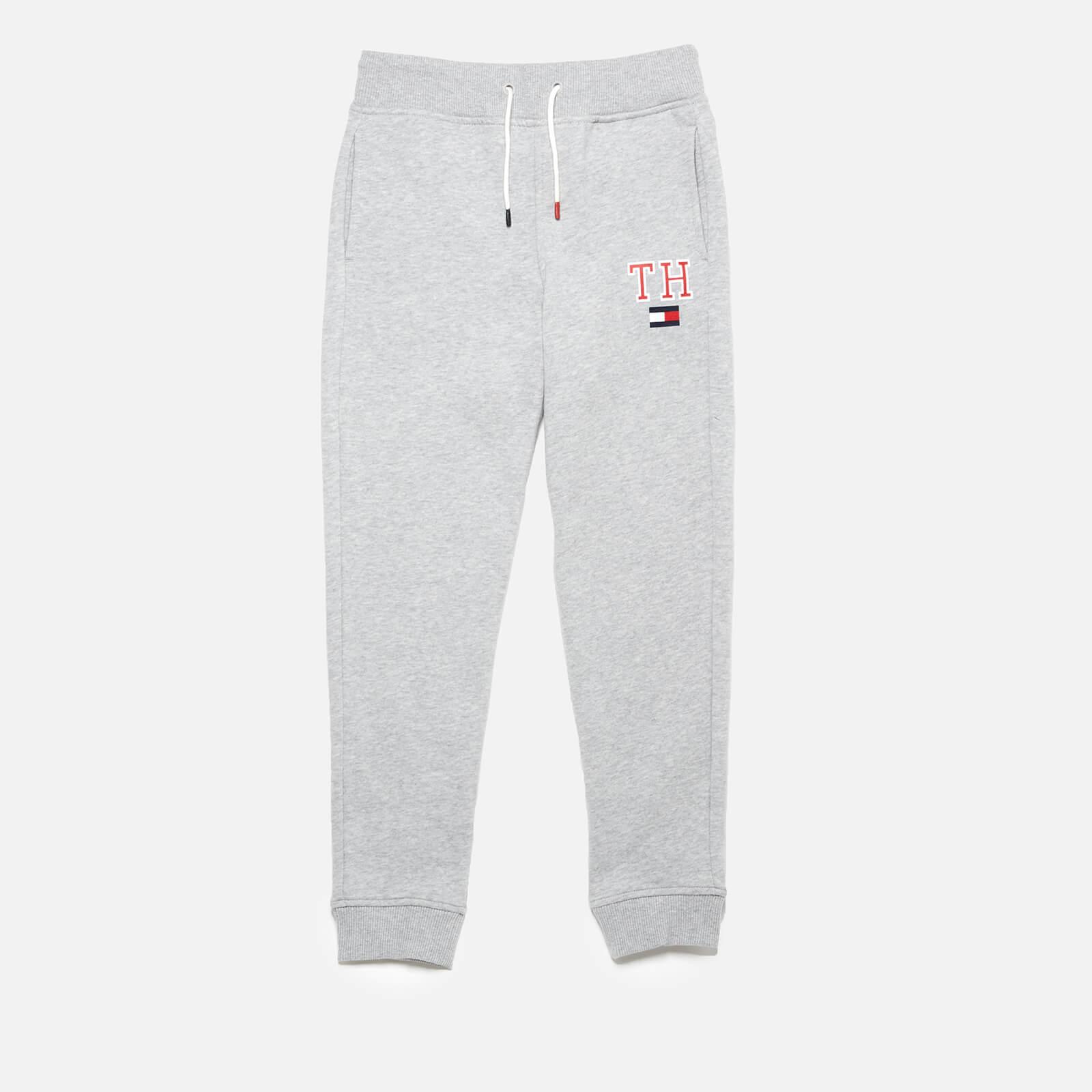 Tommy Hilfiger Boys' Essential Hilfiger Sweatpants - Grey Heather - 7 Years - Grey