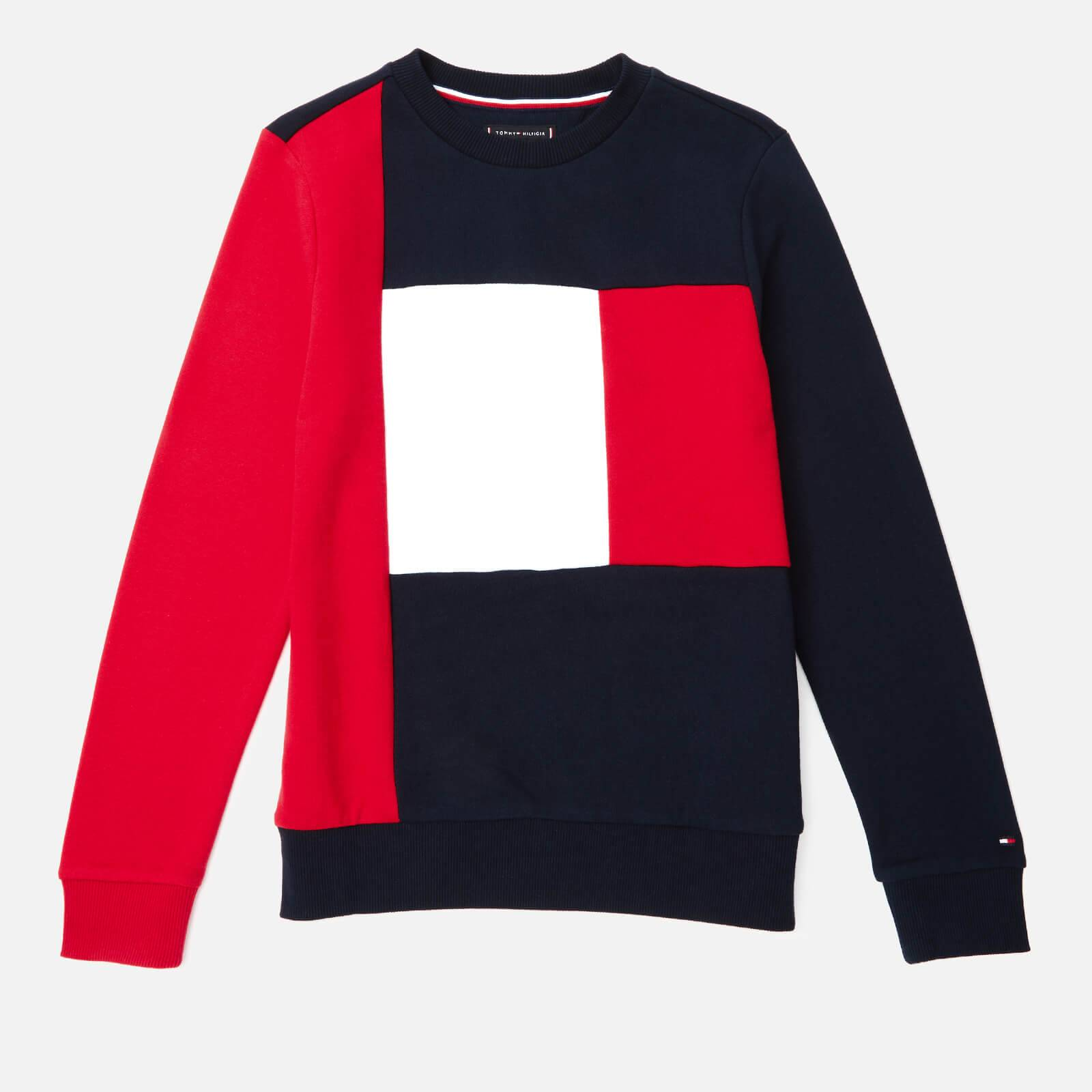 Tommy Hilfiger Boys' Colorblock Sweatshirt - Lychee - 6 Years - Multi