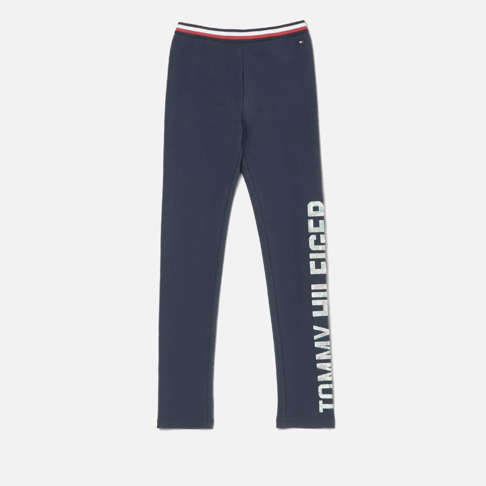 Tommy Hilfiger Girls' Essential Logo Legging - Black Iris - 8 Years - Blue