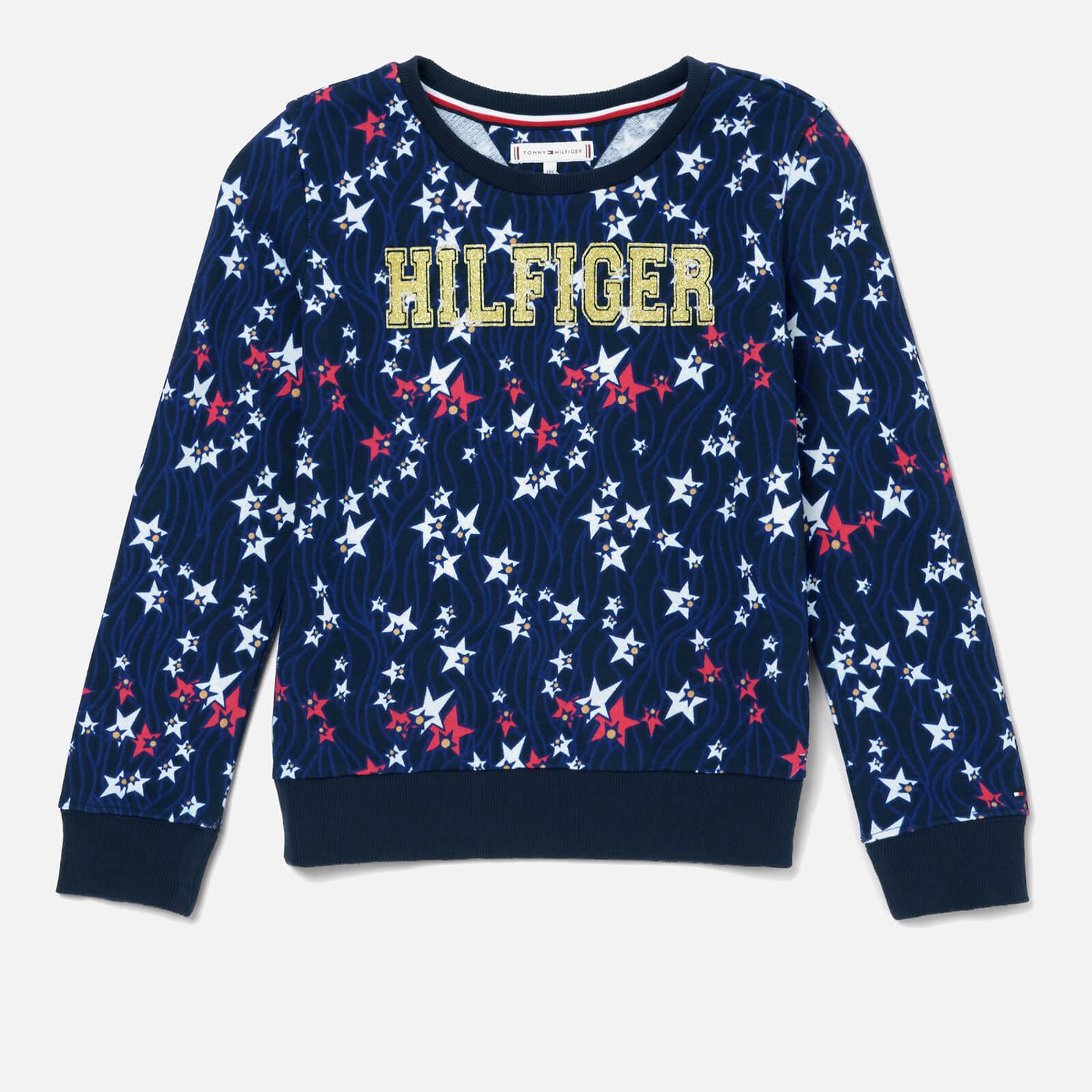 Tommy Hilfiger Girls' Flowing Stars Sweatshirt - Black Iris/Multi - 16 Years - Multi
