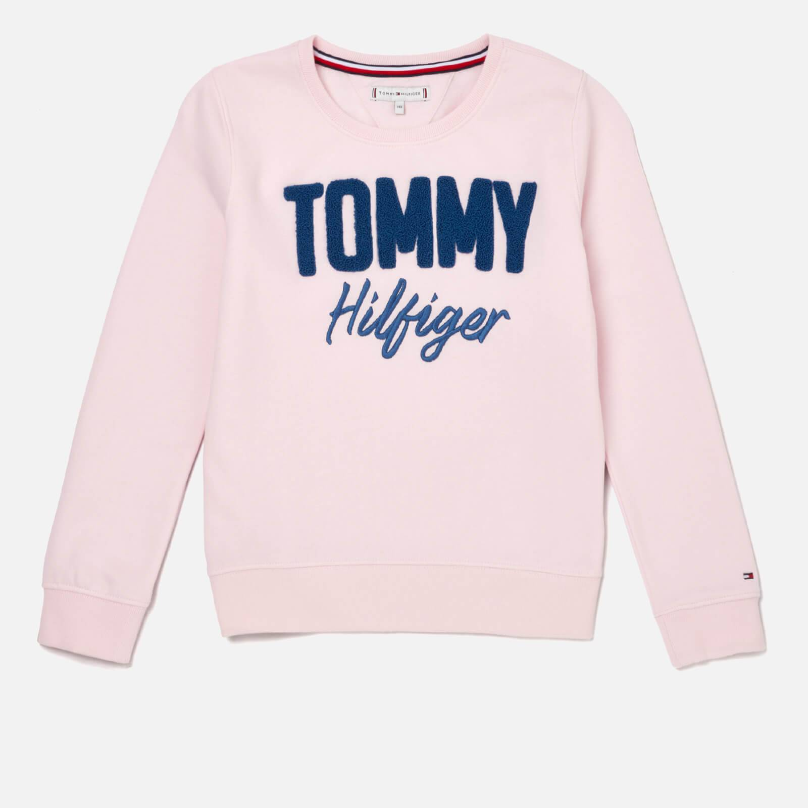 Tommy Hilfiger Girls' Mixed Applique Sweatshirt - Barely Pink - 8 Years - Pink