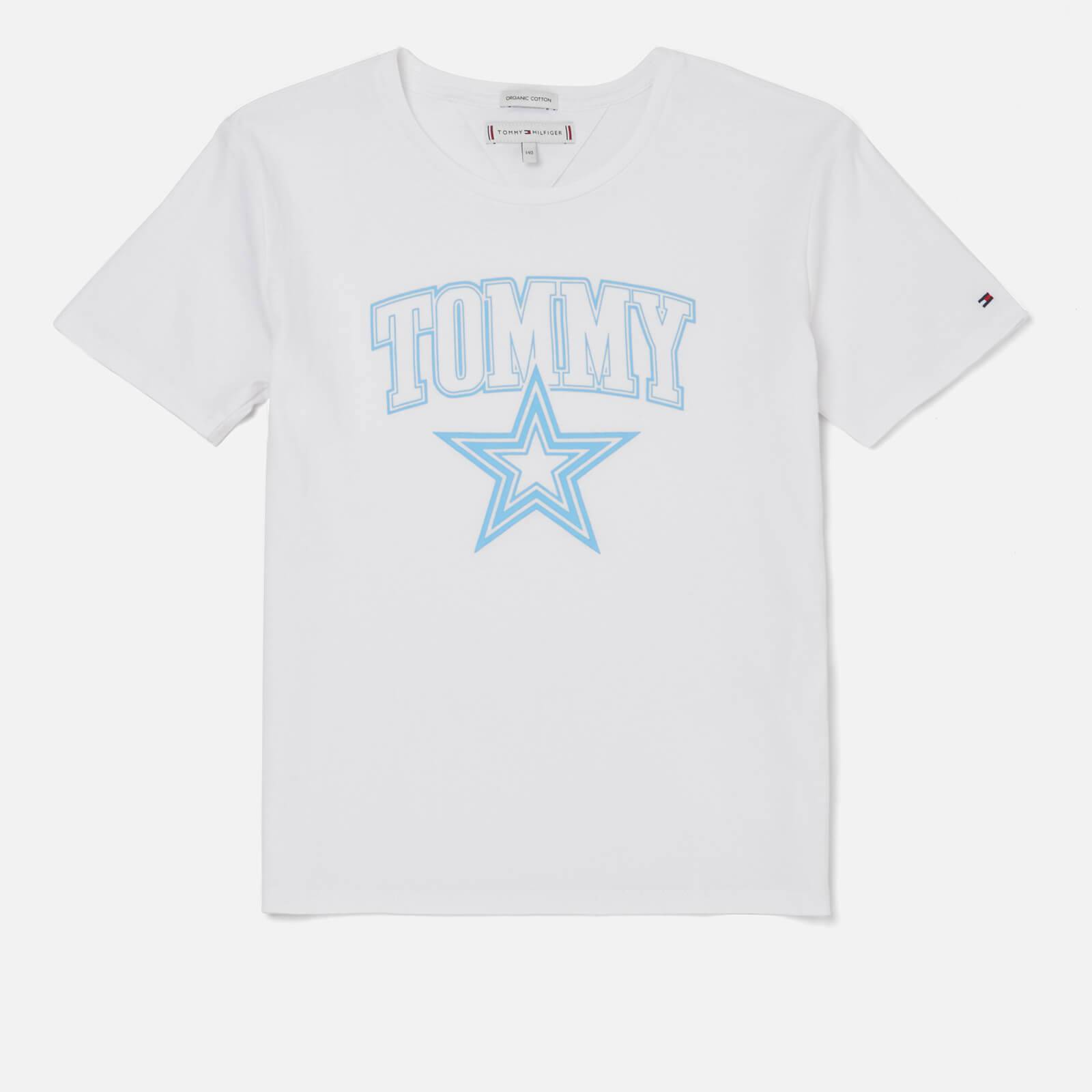 Tommy Hilfiger Girls' Essential Tommy Star T-Shirt - Bright White - 6 Years - White