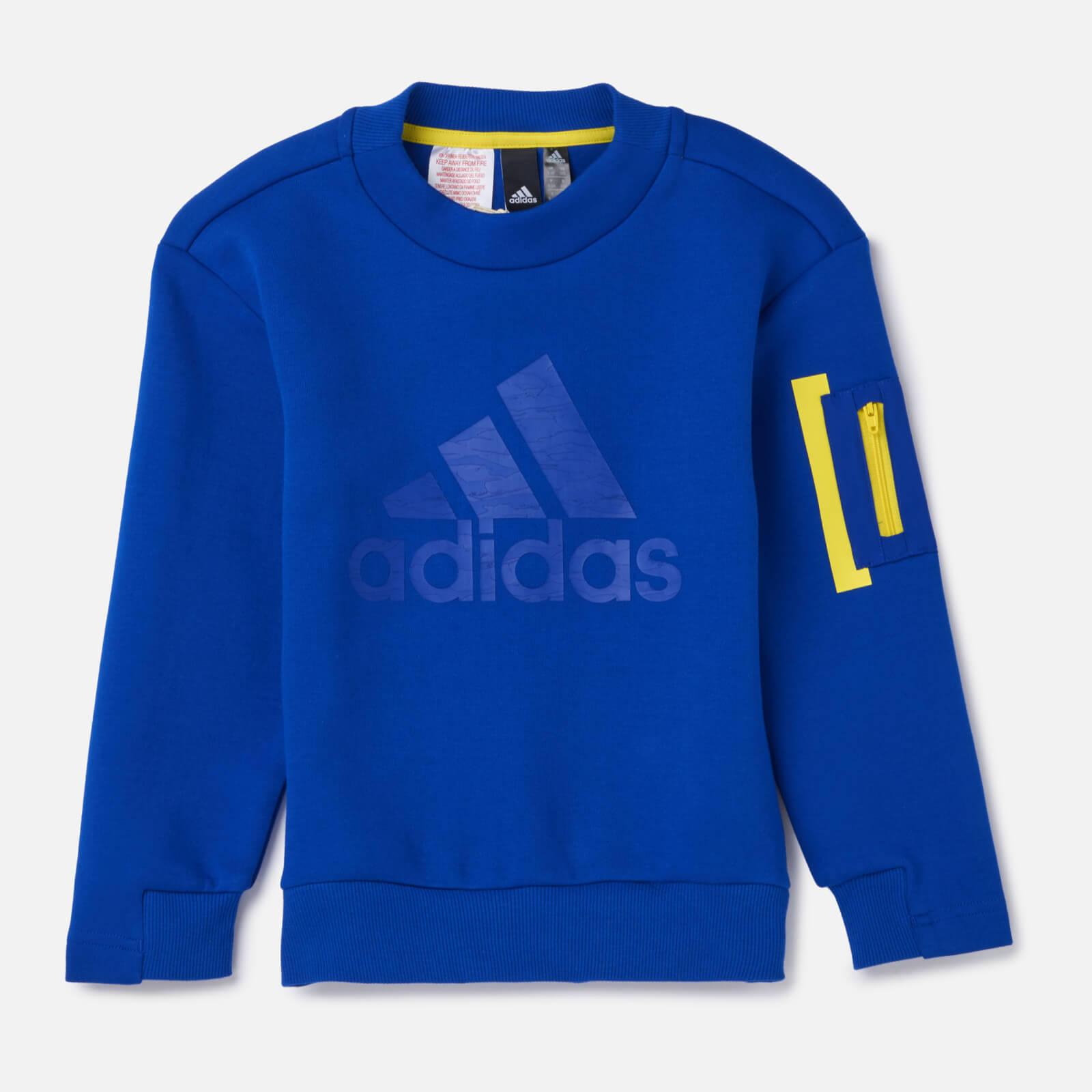 adidas Young Boy ID SPCR Crew Neck Sweatshirt - Blue - 7-8 Years - Blue