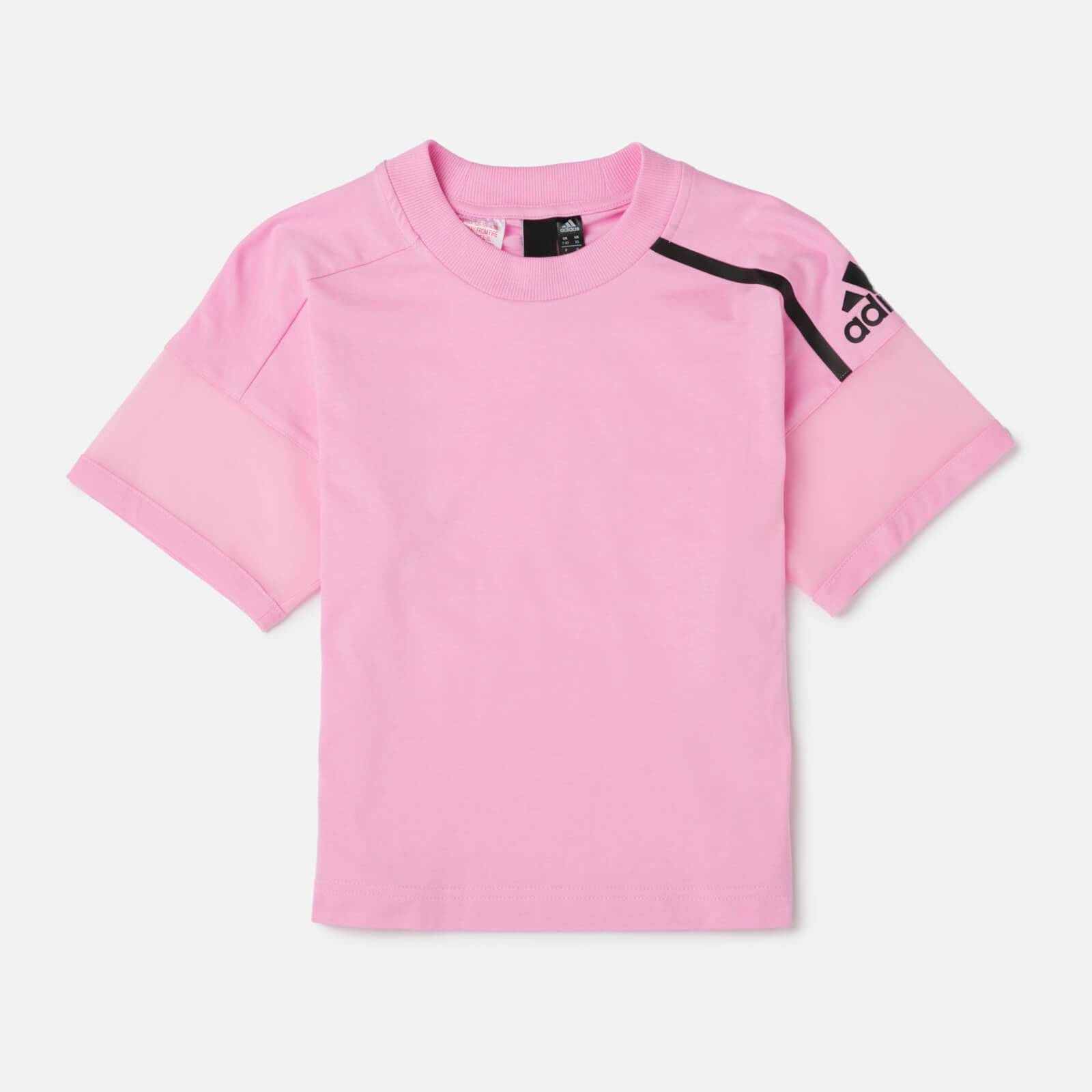 adidas Young Girls' ZNE Short Sleeve T-Shirt - Pink - 11-12 Years - Pink