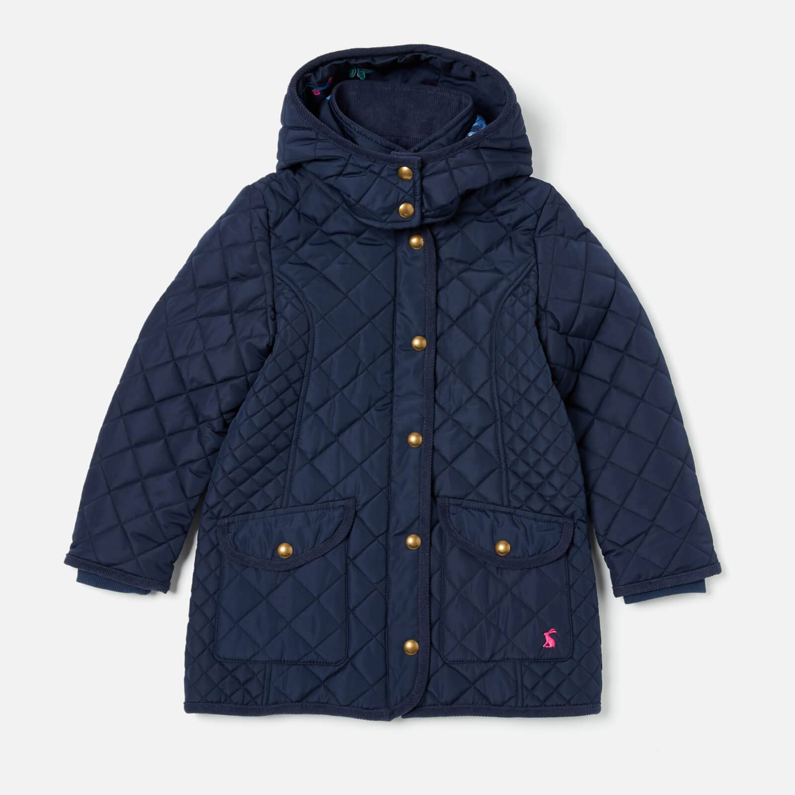 Joules Girls' Newdale Quilted Coat - French Navy - 6 Years - Blue