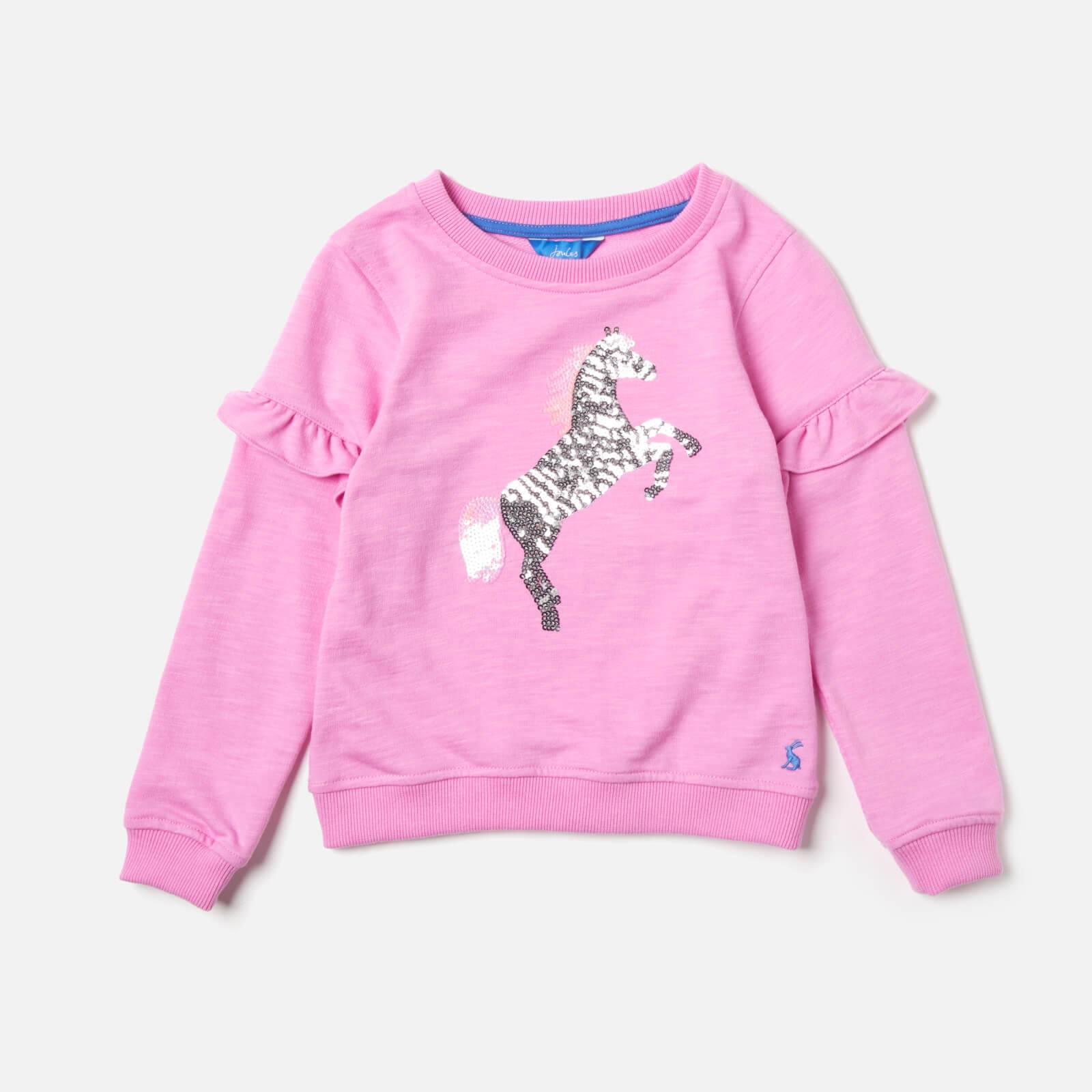 Joules Girls' Tiana Sweatshirt - Light Pink - 6 Years - Pink