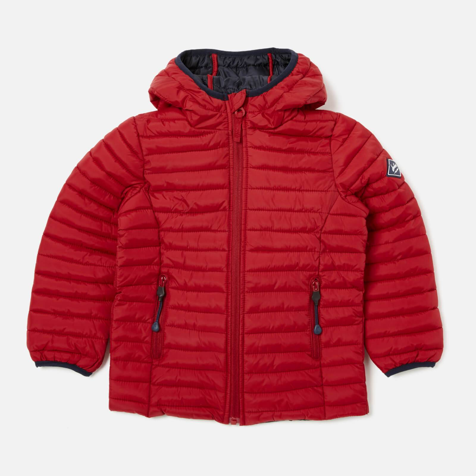 Joules Boys' Cairn Padded Jacket - Red - 4 Years - Red