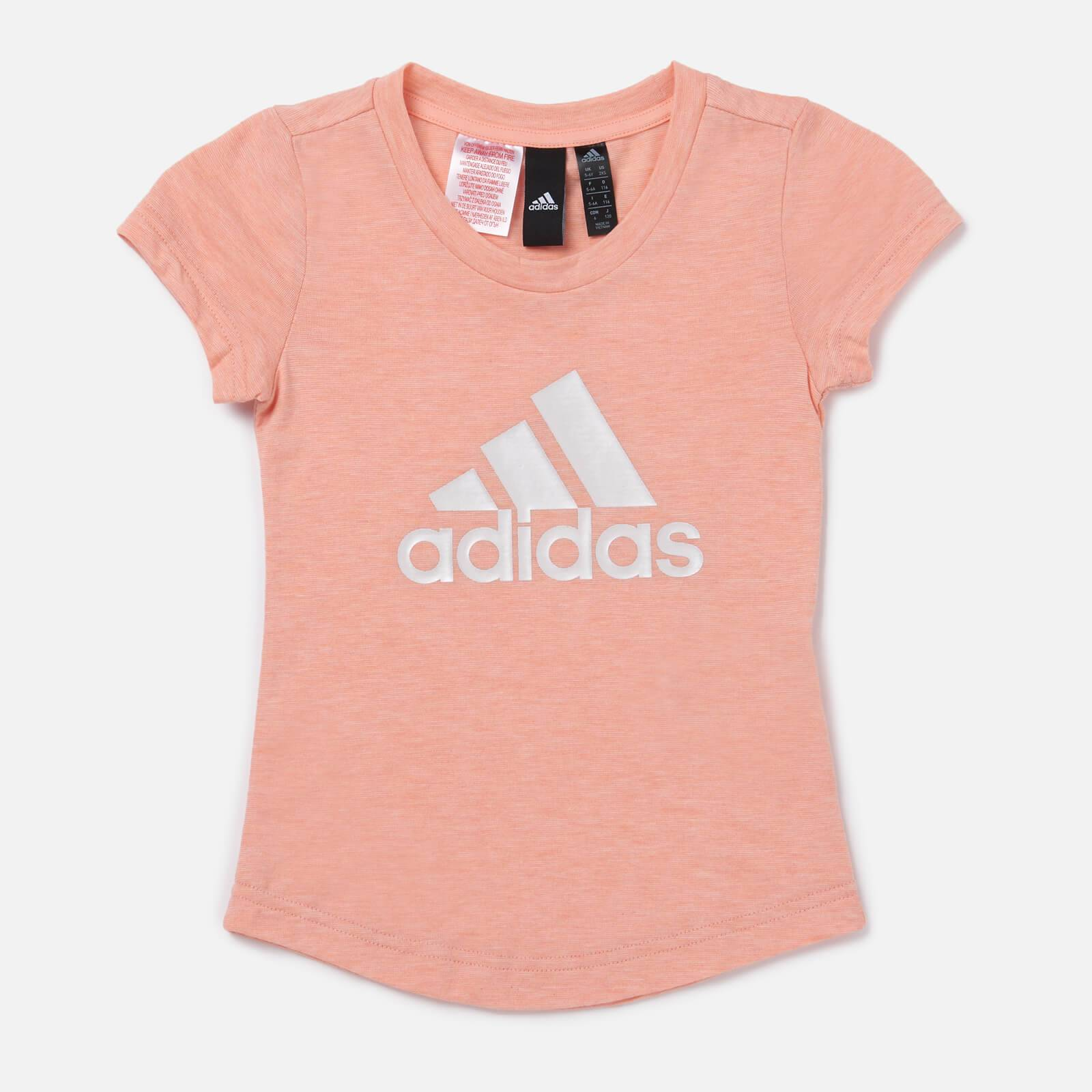 adidas Girls' Young Girls Winner T-Shirt - Pink - 11-12 Years