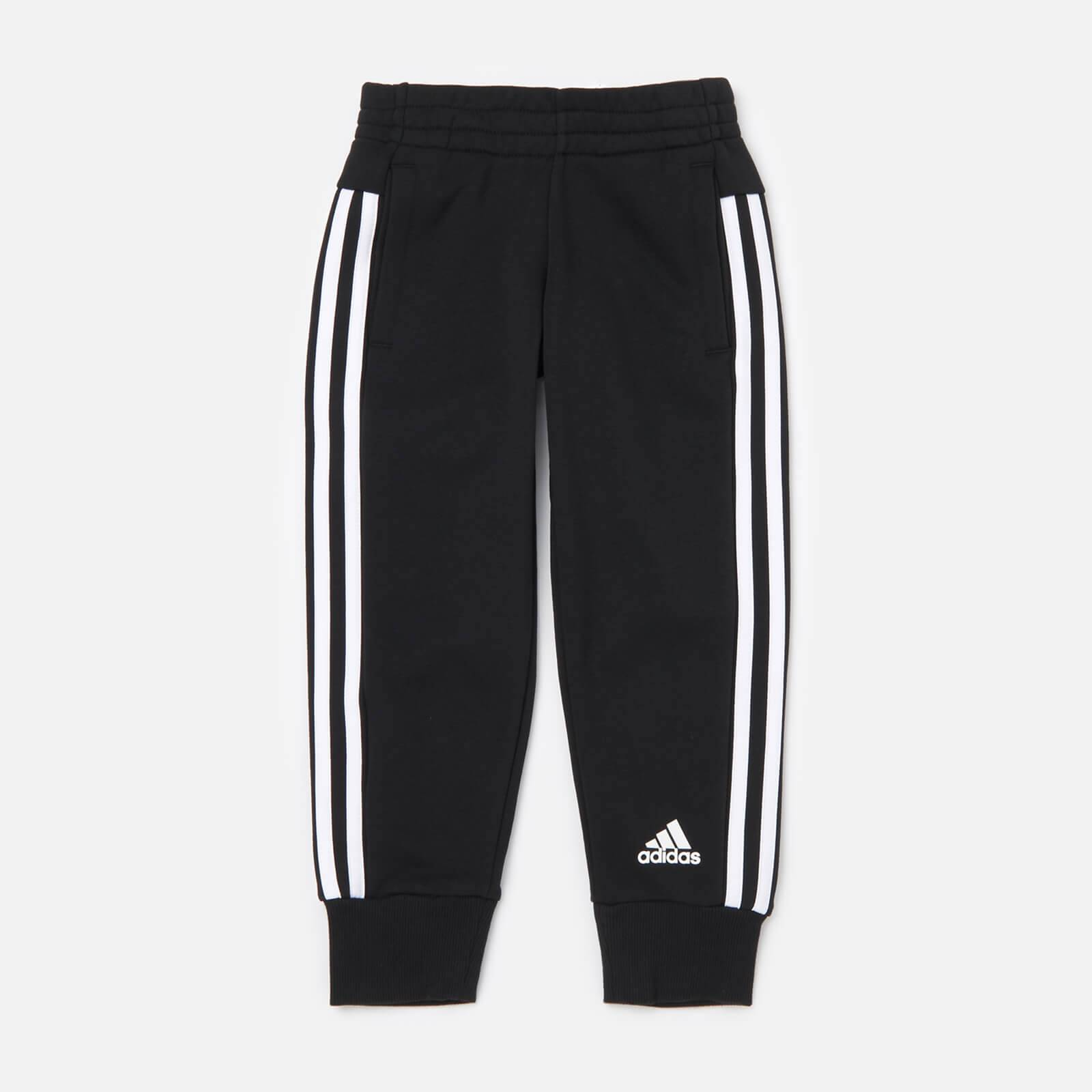 adidas Girls' Young Girls 3 Stripe Pants - Black - 5-6 Years
