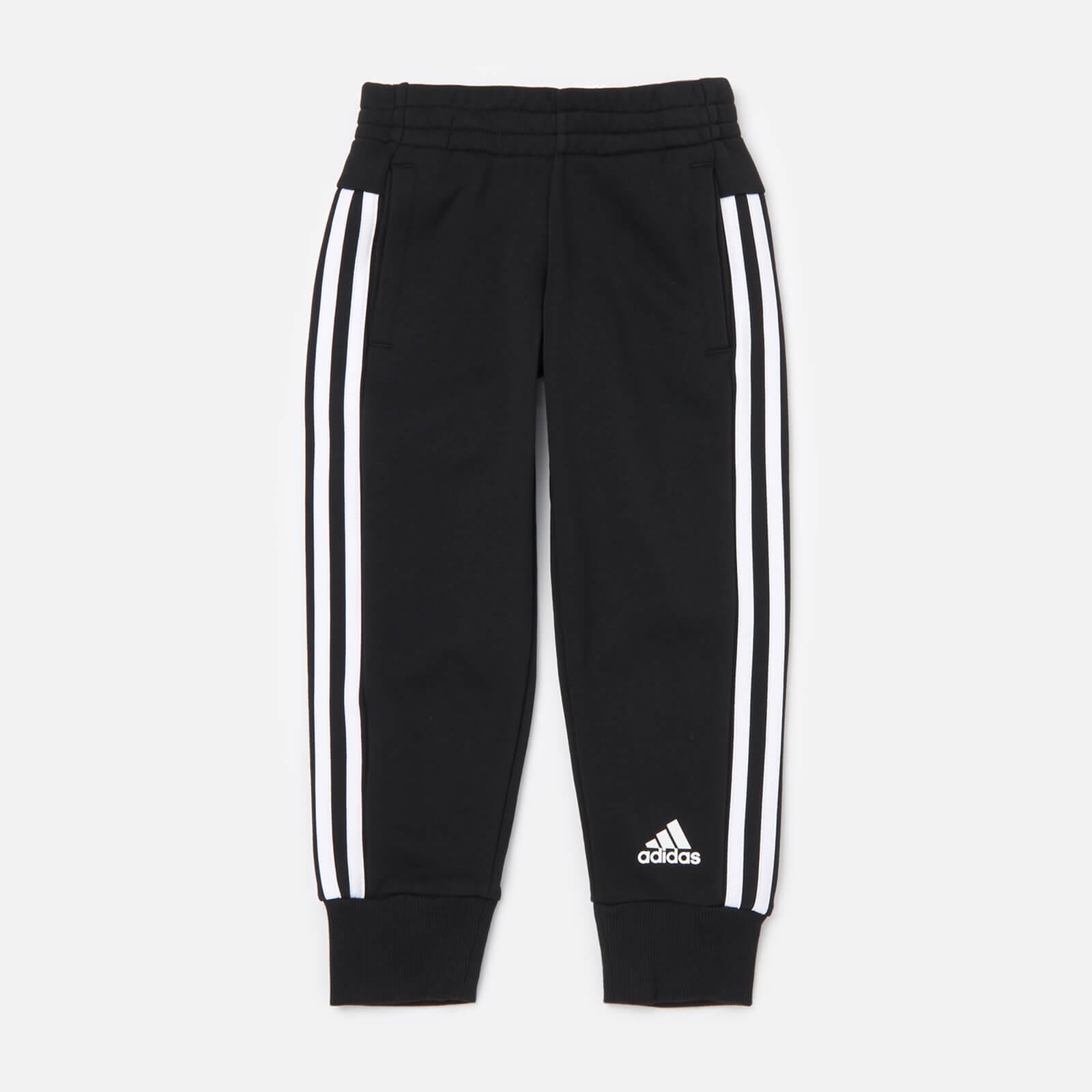 adidas Girls' Young Girls 3 Stripe Pants - Black - 11-12 Years