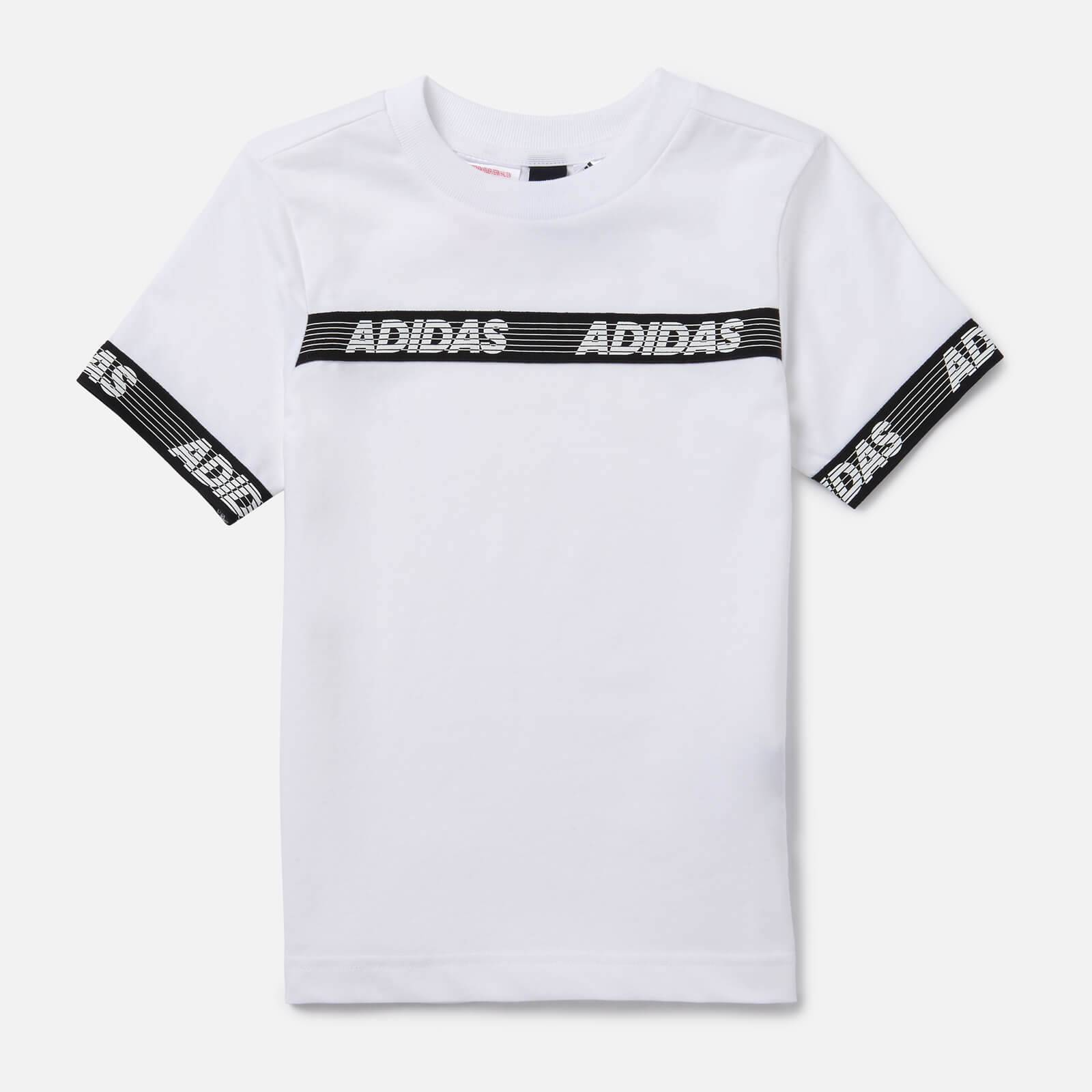 adidas Boys' Young Boys Sid Branded T-Shirt - White - 11-12 Years