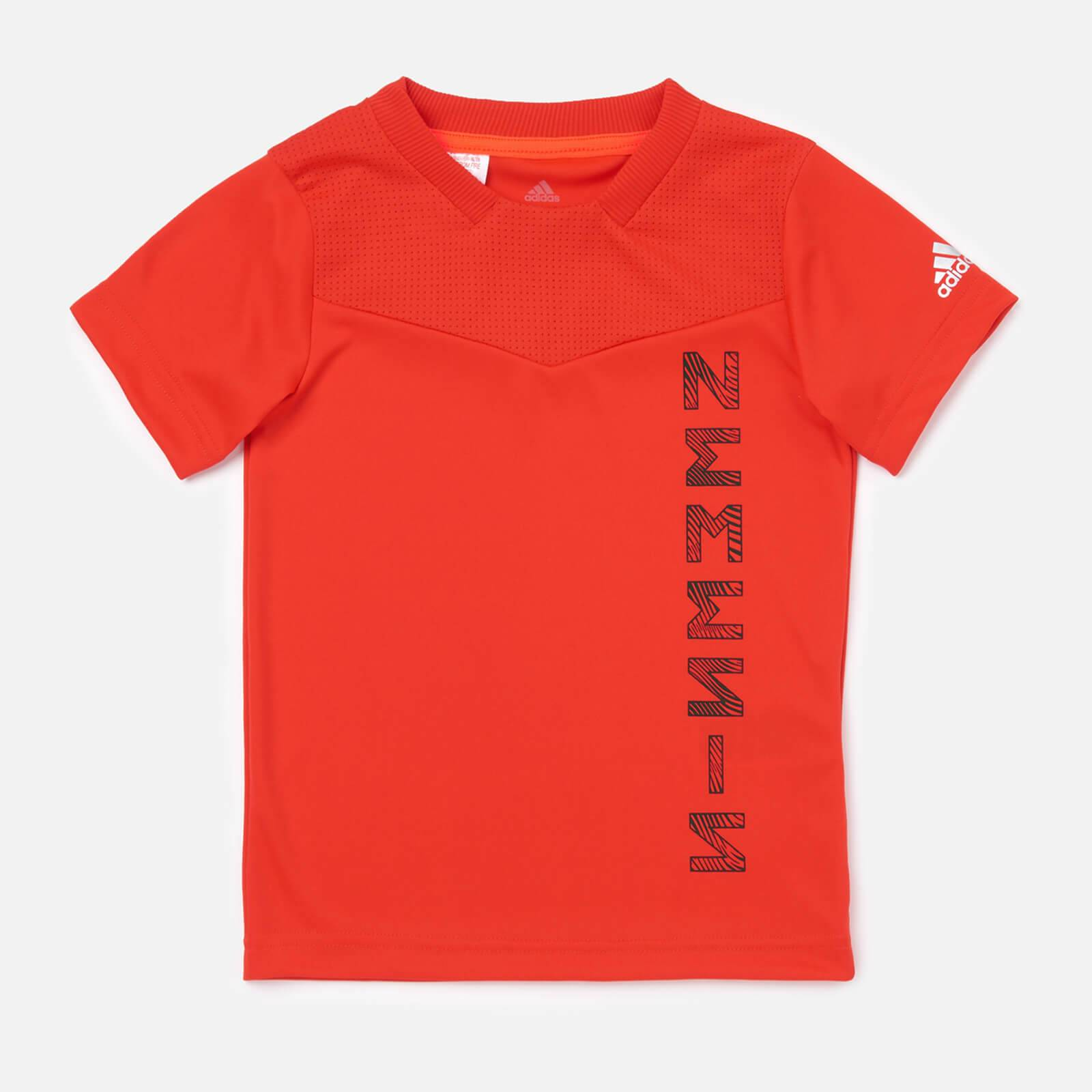adidas Boys' Young Boys Nemis Jersey - Red - 11-12 Years