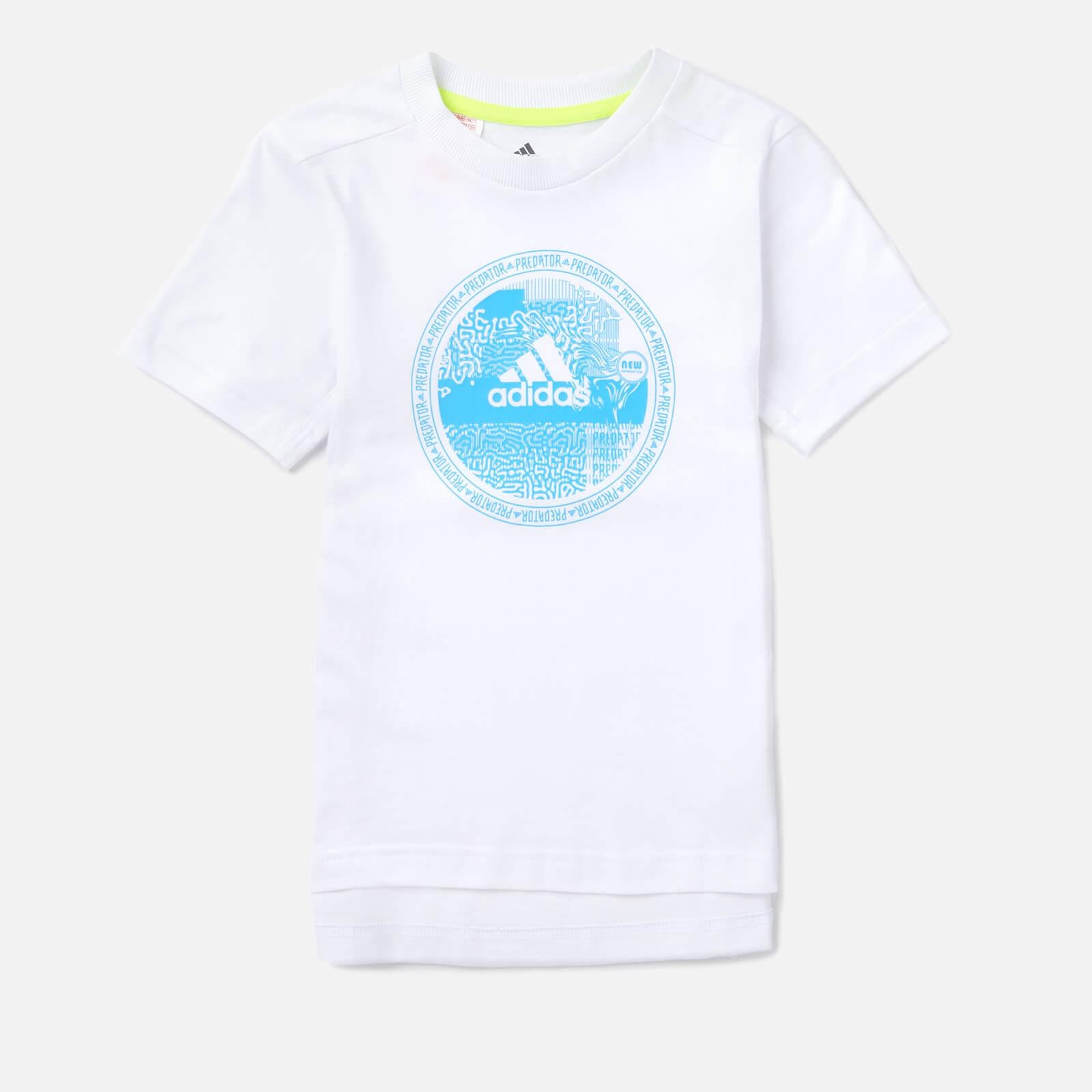 adidas Boys' Young Boys Predator T-Shirt - White - 9-10 Years