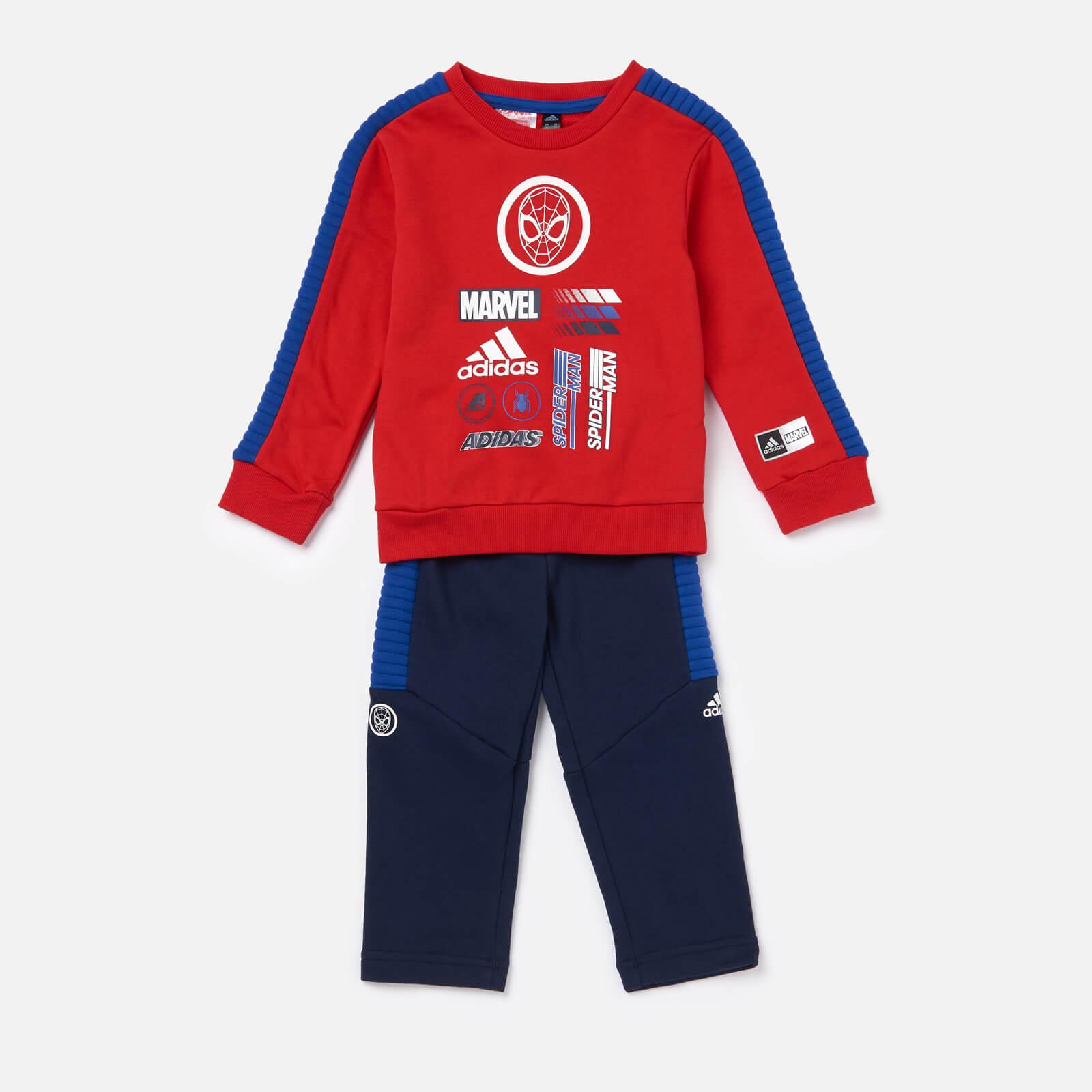adidas Boys' Infant Spider-Man Jogger Set - Red/Blue - 0-3 months