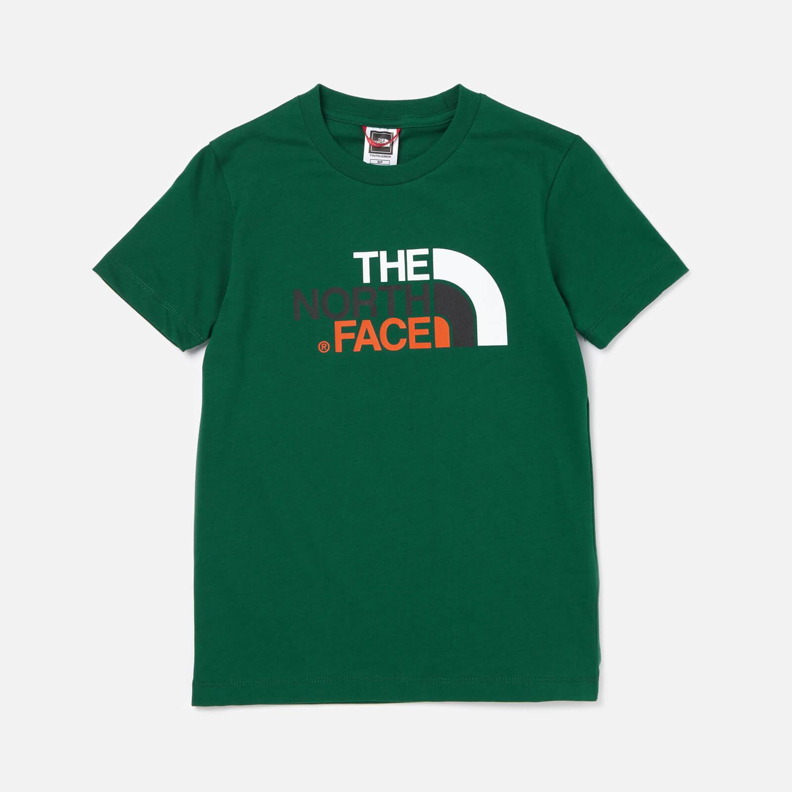 The North Face Boys' Easy Short Sleeve T-Shirt - Night Green - XS