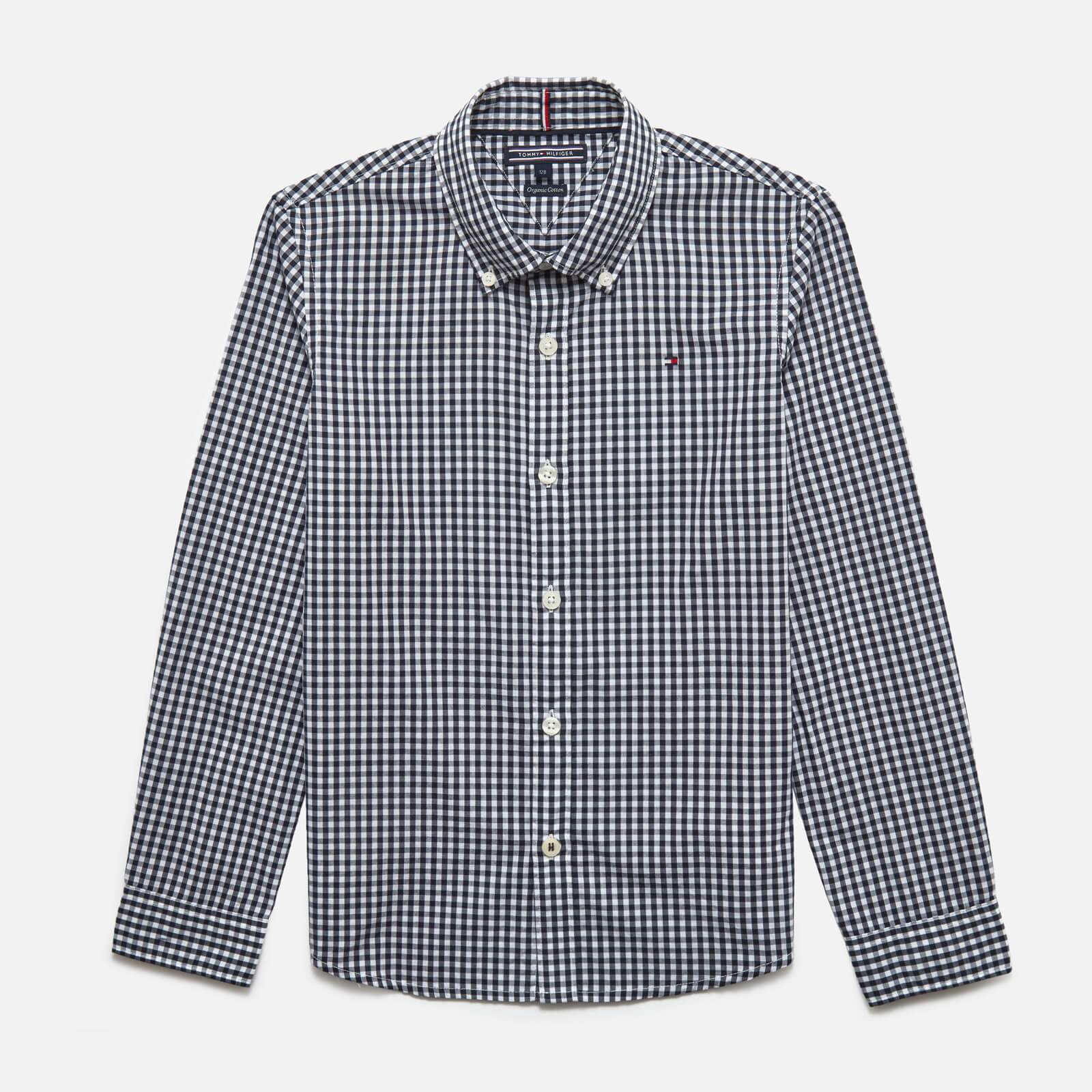 Tommy Kids Boys' Long Sleeve Gingham Shirt - Sky Captain - 12 Years