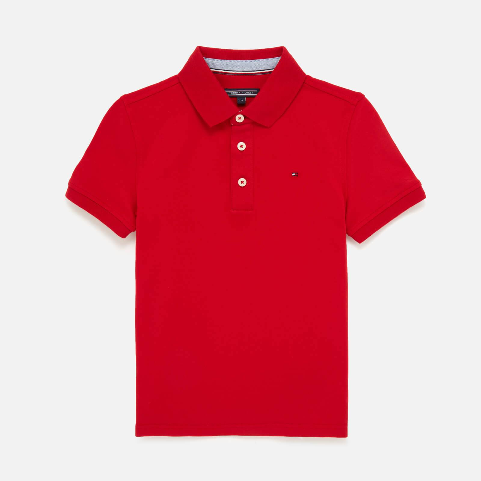 Tommy Kids Boys' Iconic Polo Shirt - Apple Red - 7 Years