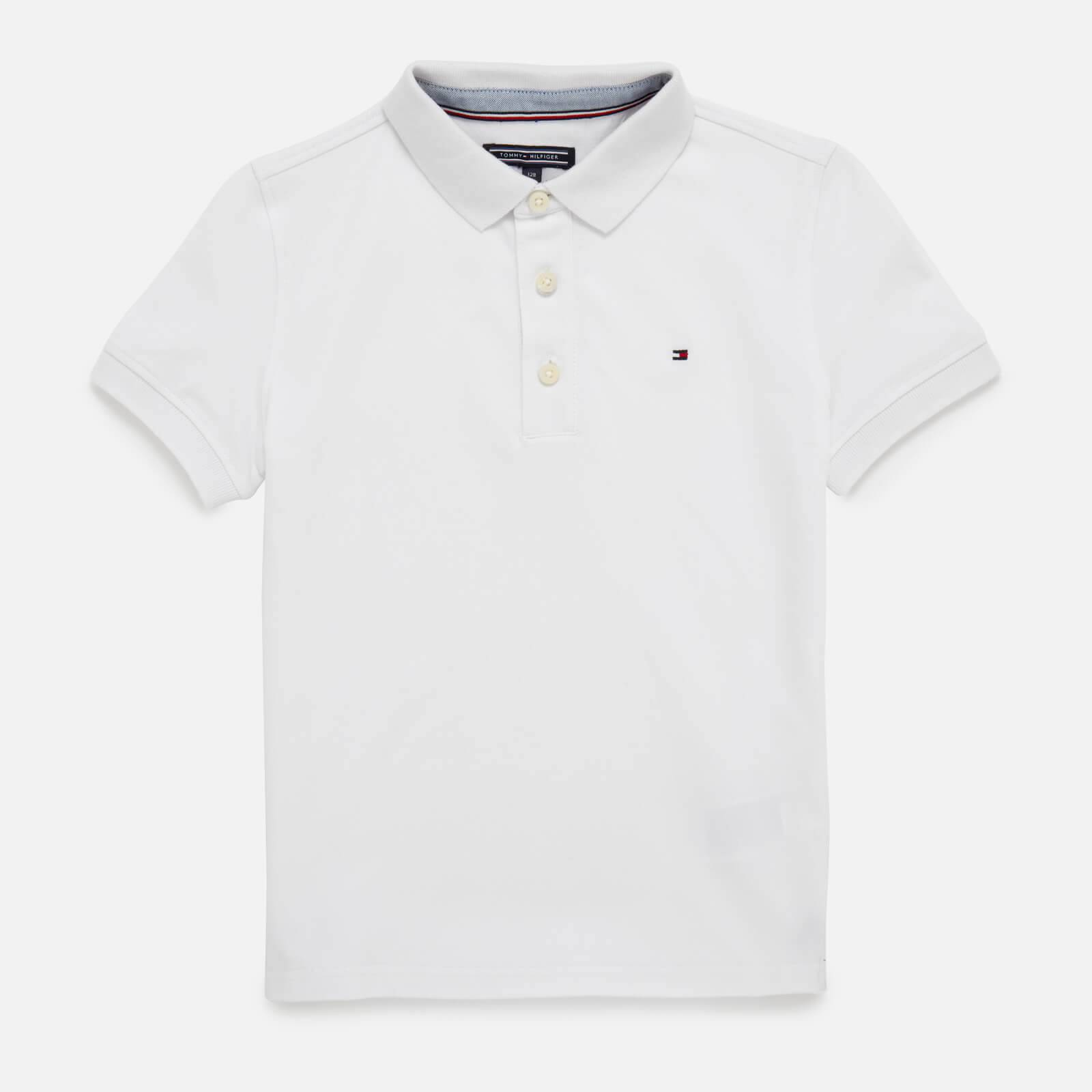 Tommy Kids Boys' Iconic Polo Shirt - Bright White - 8 Years