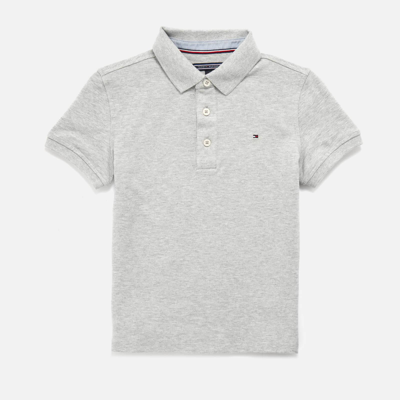 Tommy Kids Boys' Iconic Polo Shirt - Grey Heather - 8 Years