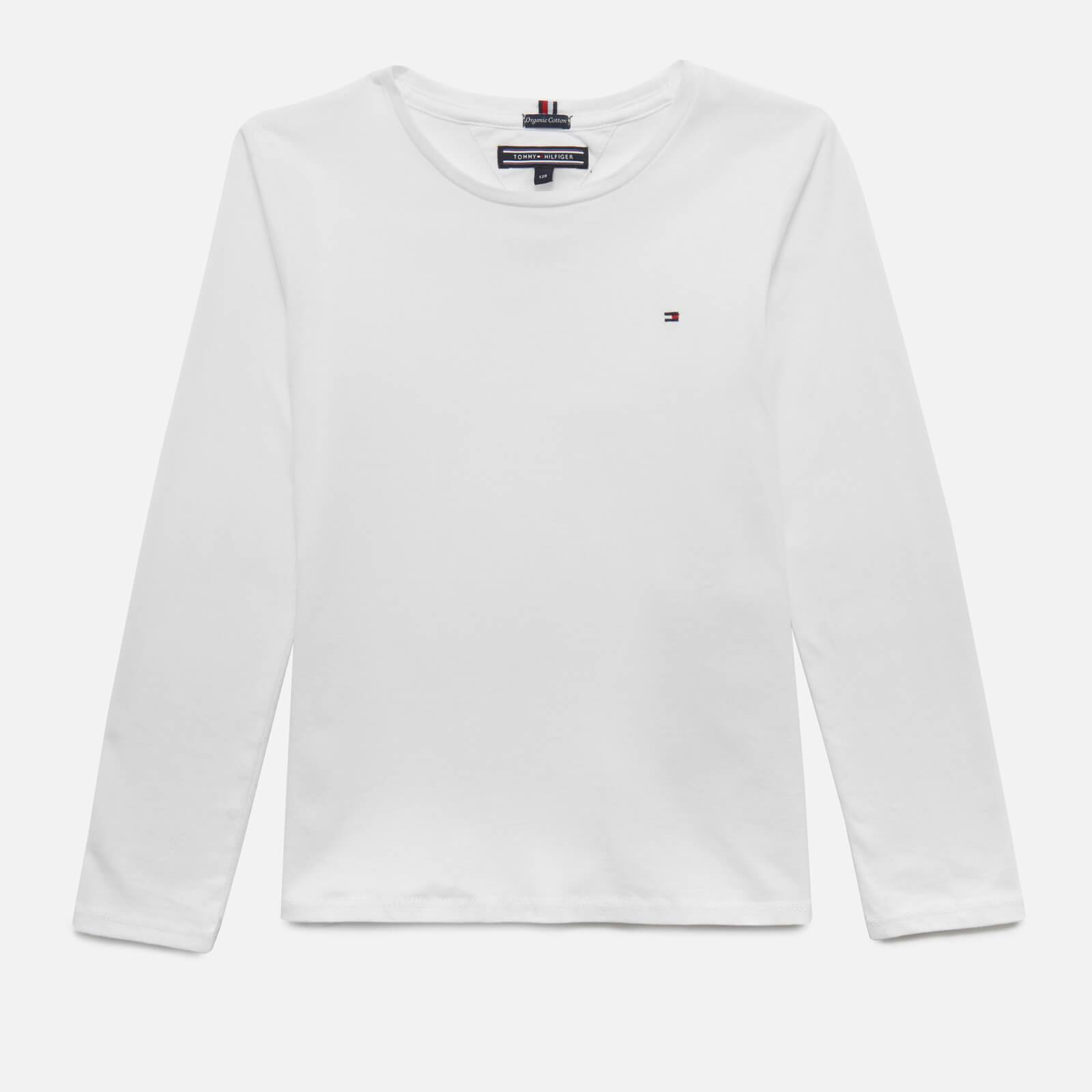 Tommy Kids Girls' Long Sleeve T-Shirt - Bright White - 7 Years