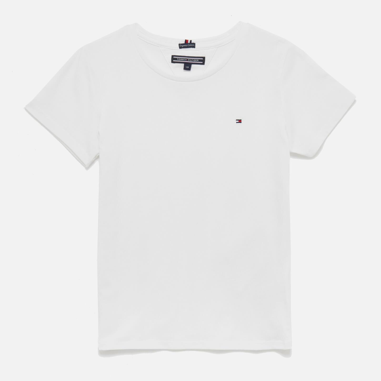 Tommy Kids Girls' Short Sleeve T-Shirt - Bright White - 8 Years