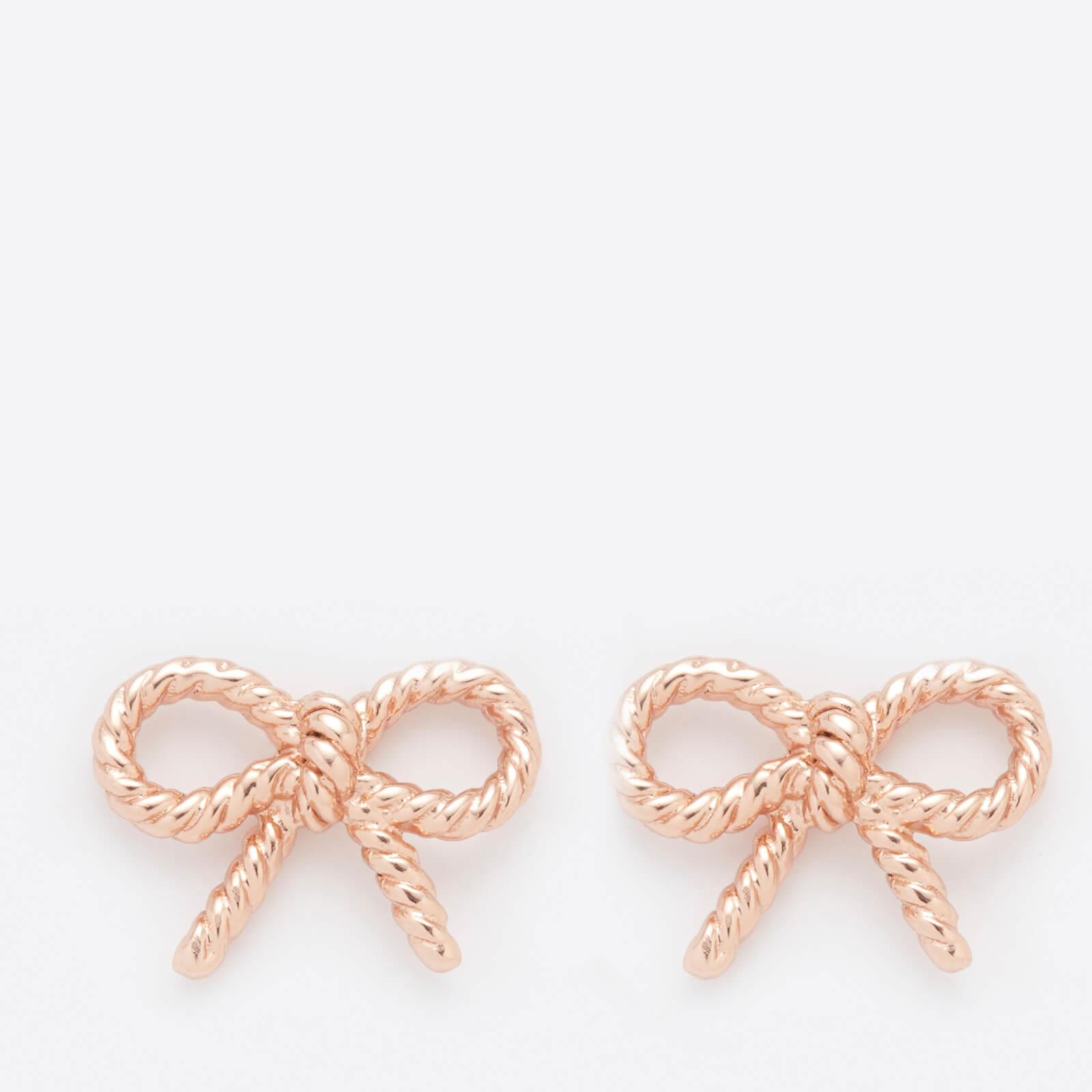 Olivia Burton Women's Vintage Bow Earrings - Rose Gold
