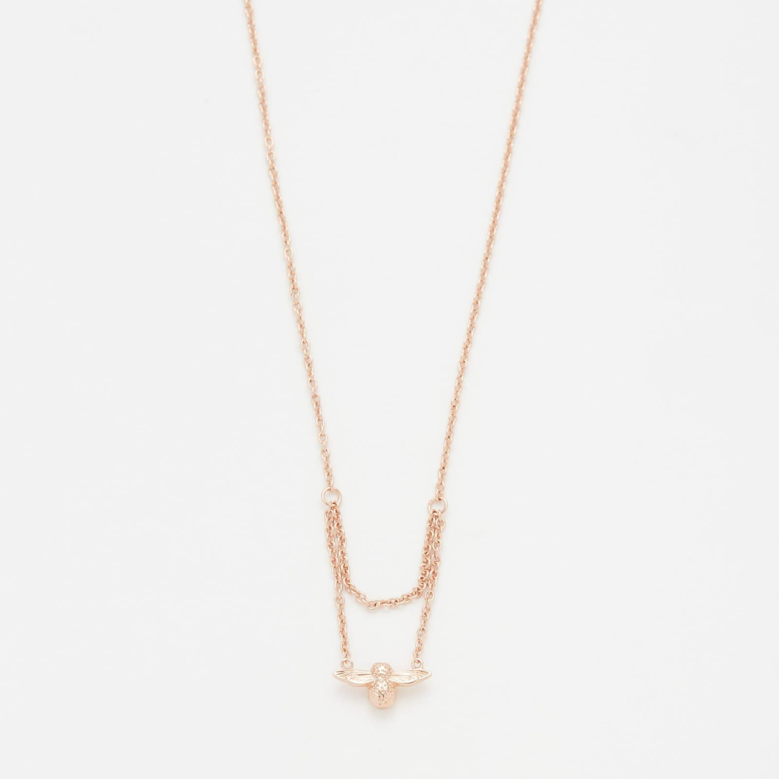 Olivia Burton Women's Moulded Bee Drop Necklace - Rose Gold