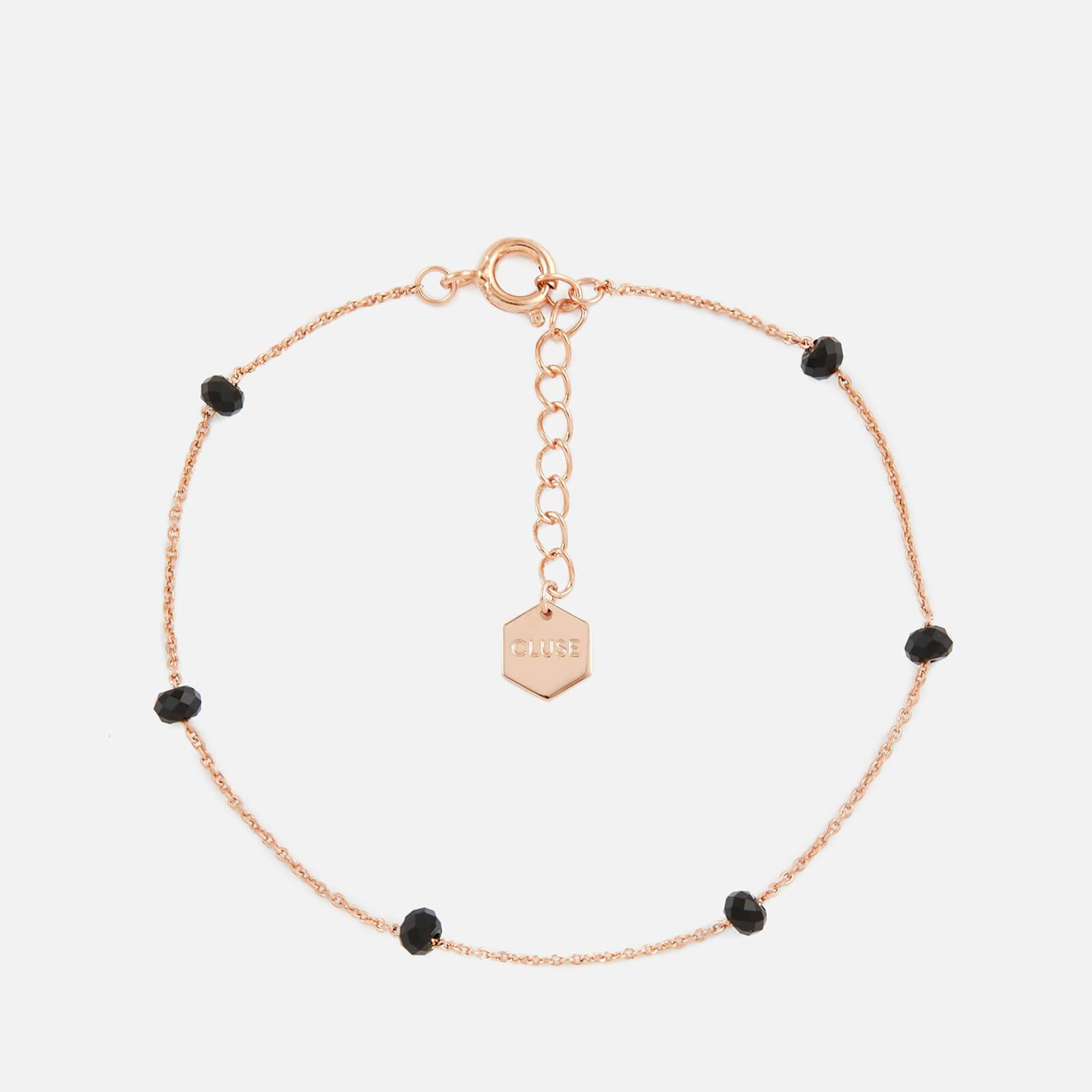 Cluse Women's Essentielle Black Crystals Chain Bracelet - Rose Gold