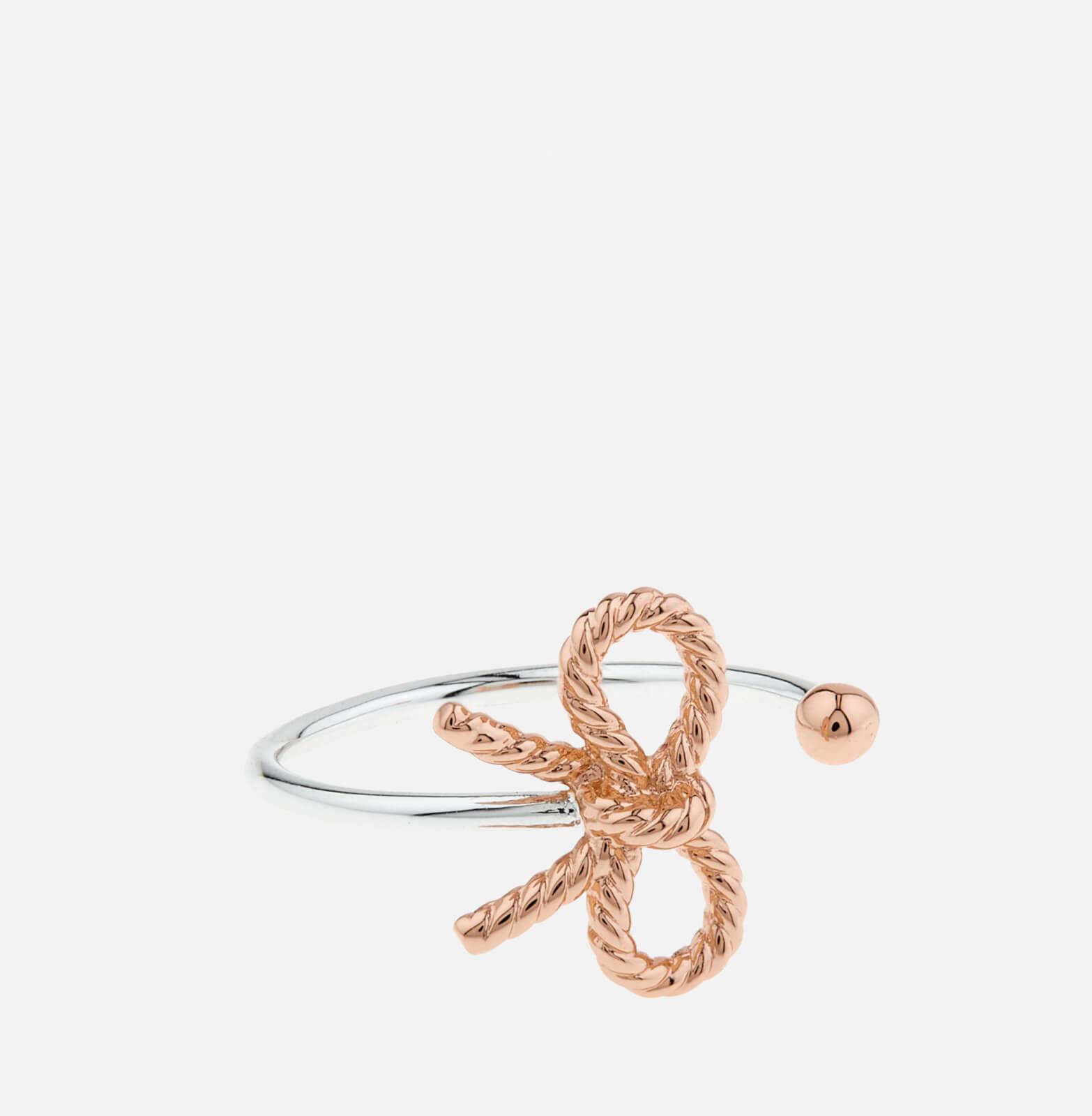 Olivia Burton Women's Vintage Bow Ring - Silver/Rose Gold