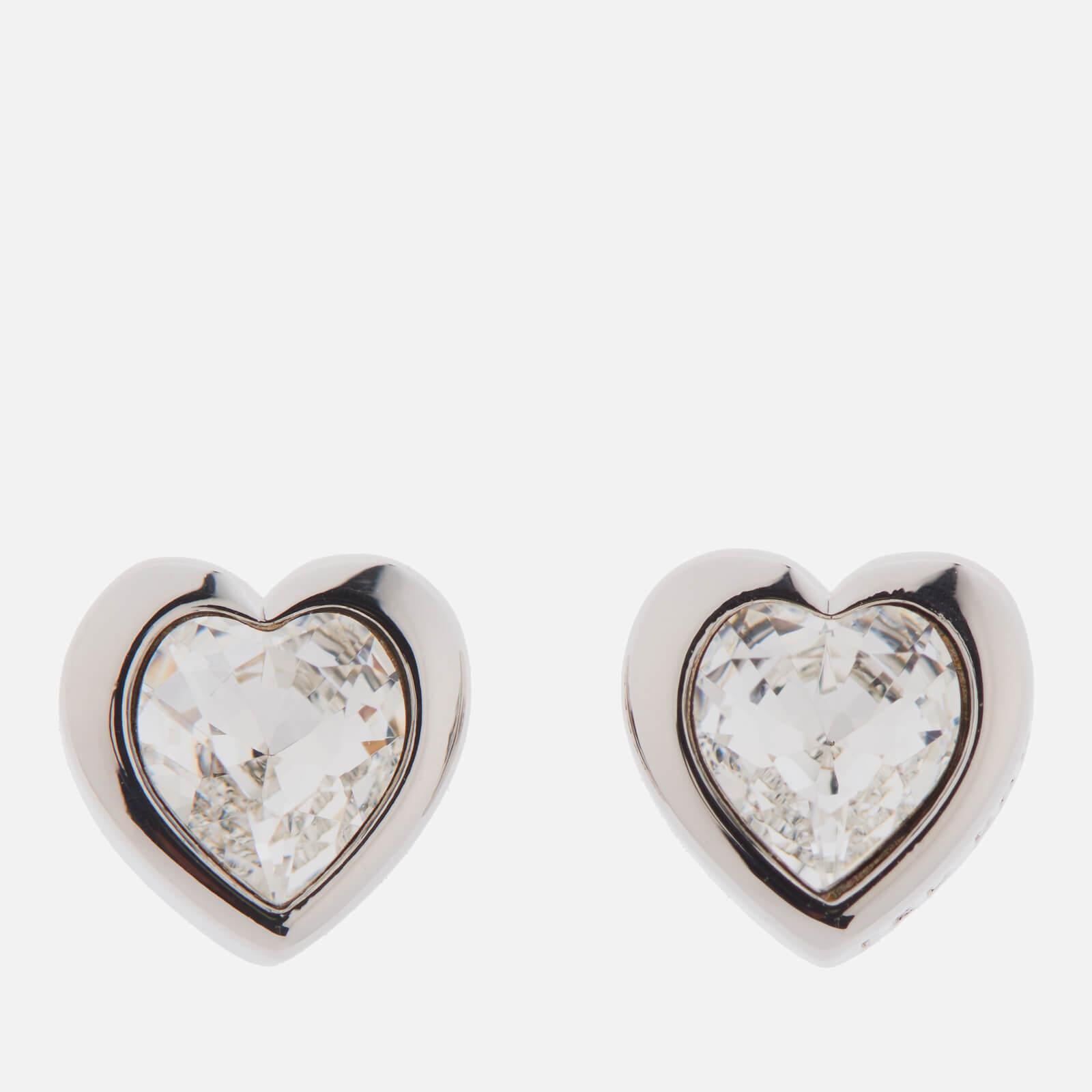 Ted Baker Women's Han Swarovski Crystal Heart Earrings - Silver/Crystal