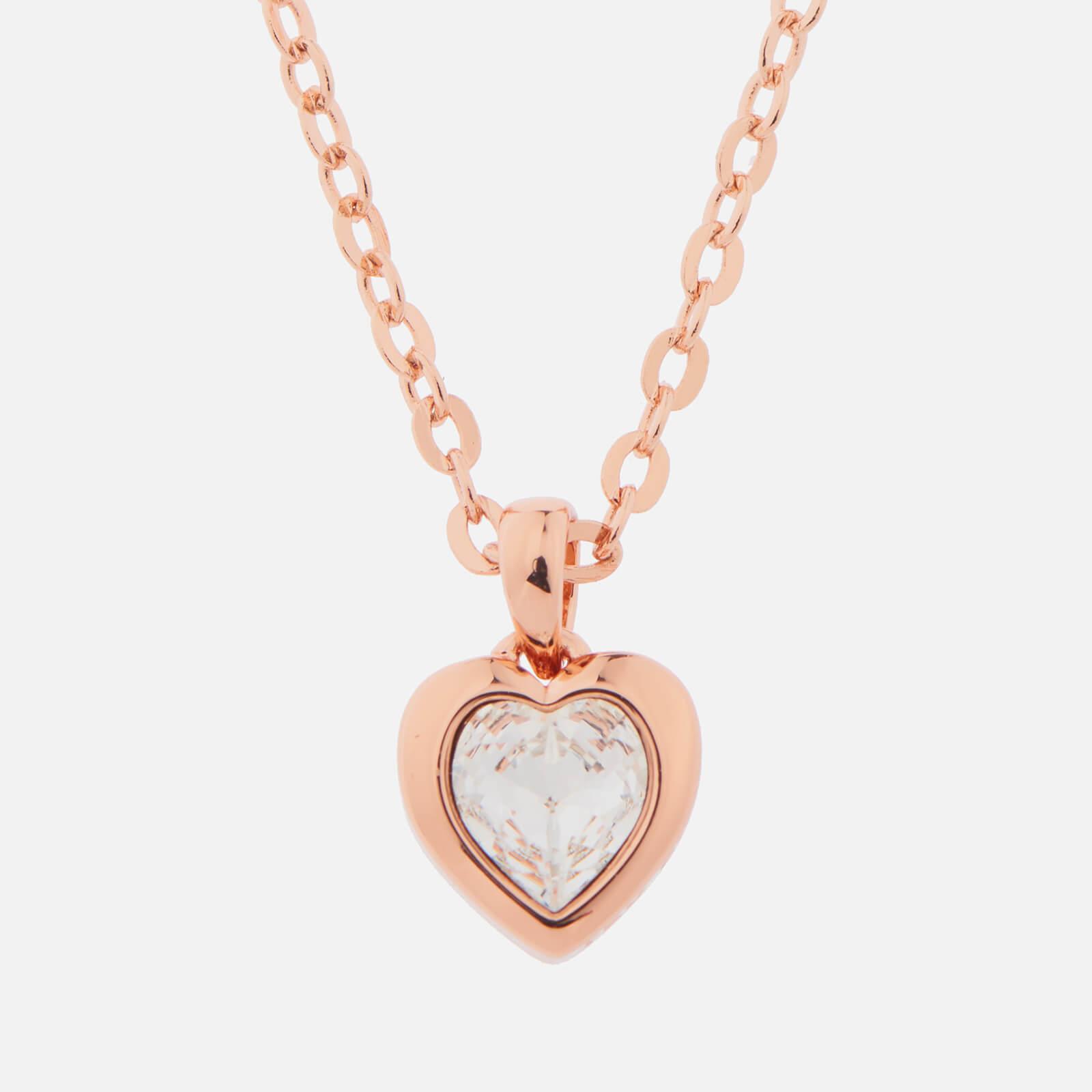 Ted Baker Women's Hannela Swarovski Crystal Heart Pendant - Rose Gold/Crystal