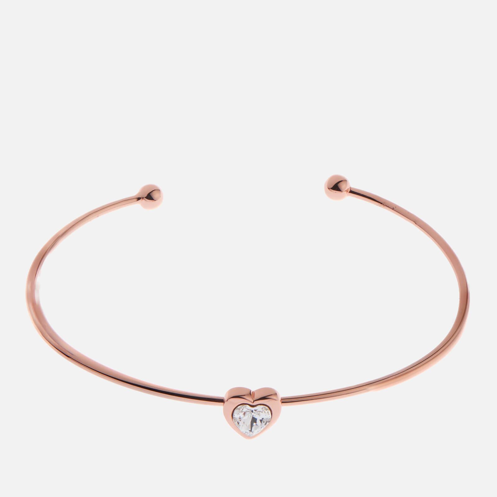Ted Baker Women's Hasina Swarovski Crystal Heart Ultra Fine Cuff - Rose Gold/Crystal