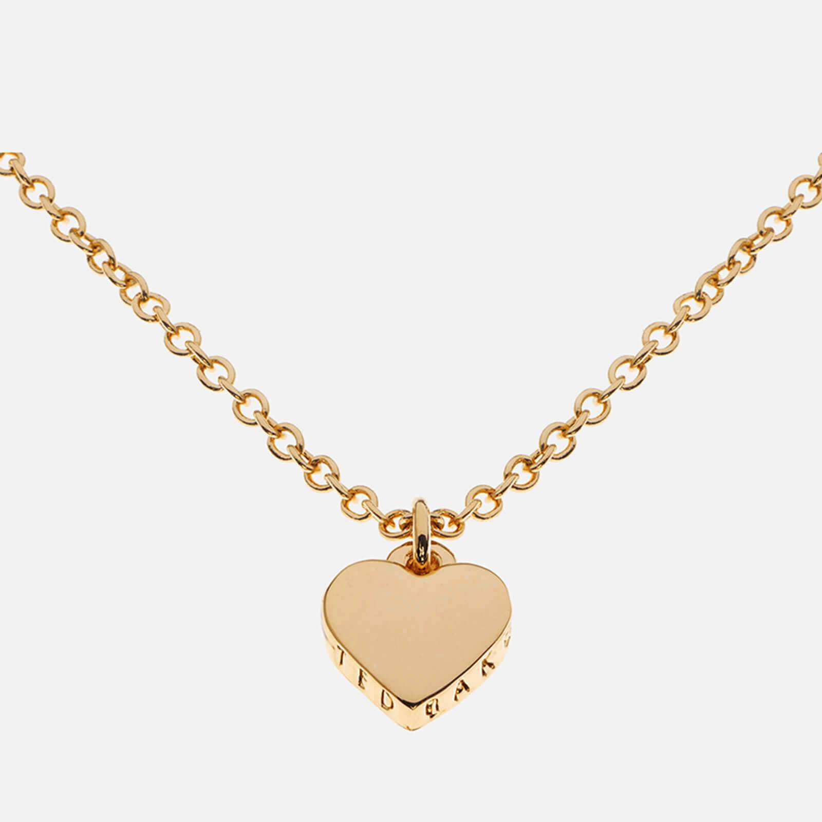 Ted Baker Women's Hara Tiny Heart Pendant Necklace - Gold - Silver