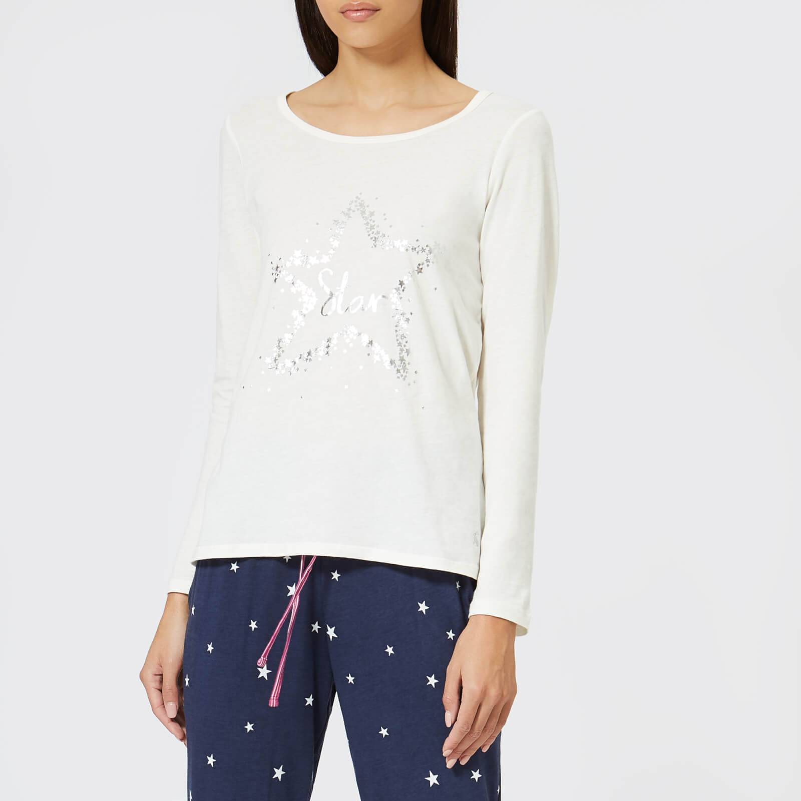 Joules Women's Aubree Long Sleeved Graphic Top - Cream - UK 14 - Cream