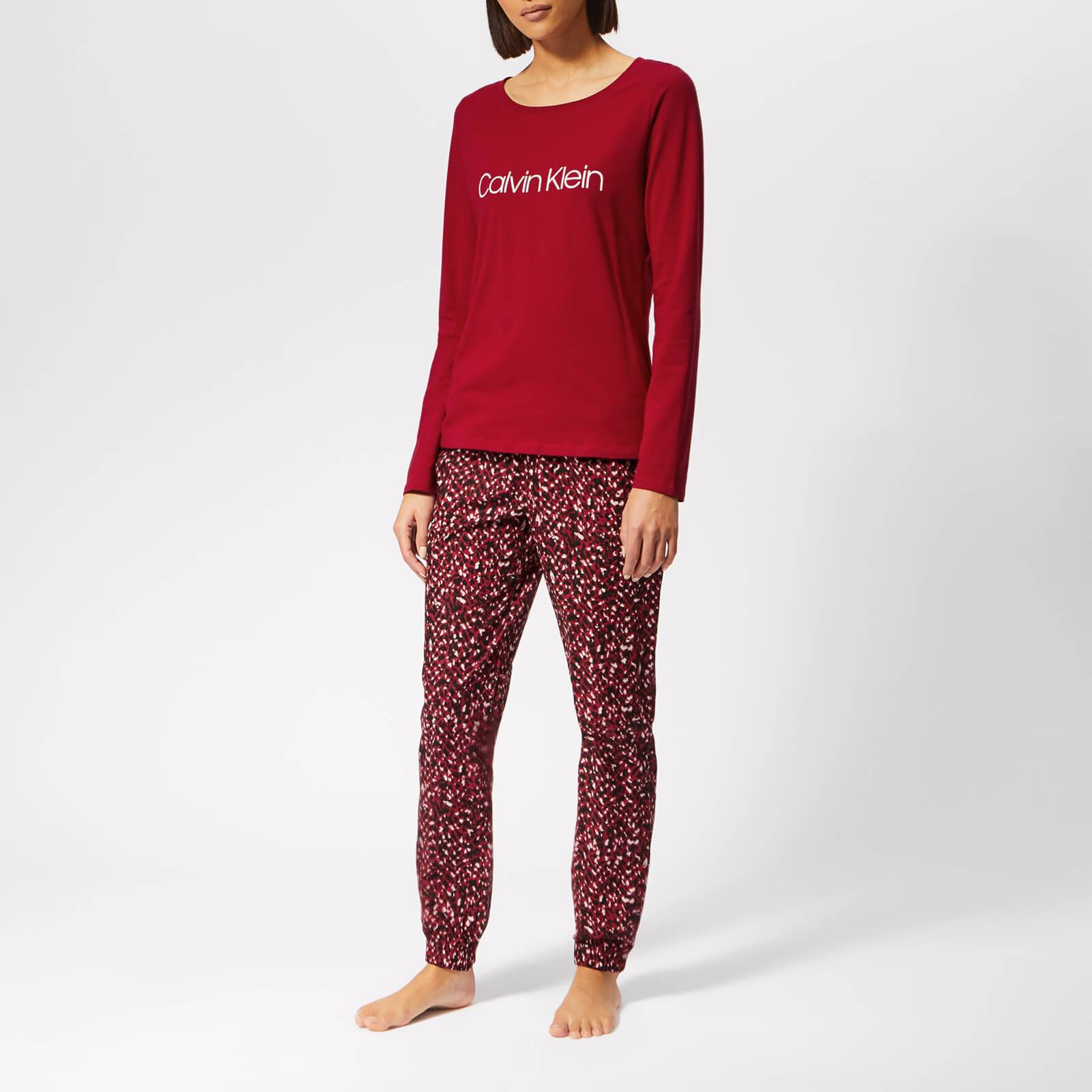 Calvin Klein Women's PJ Gift Set - Red - L - Red