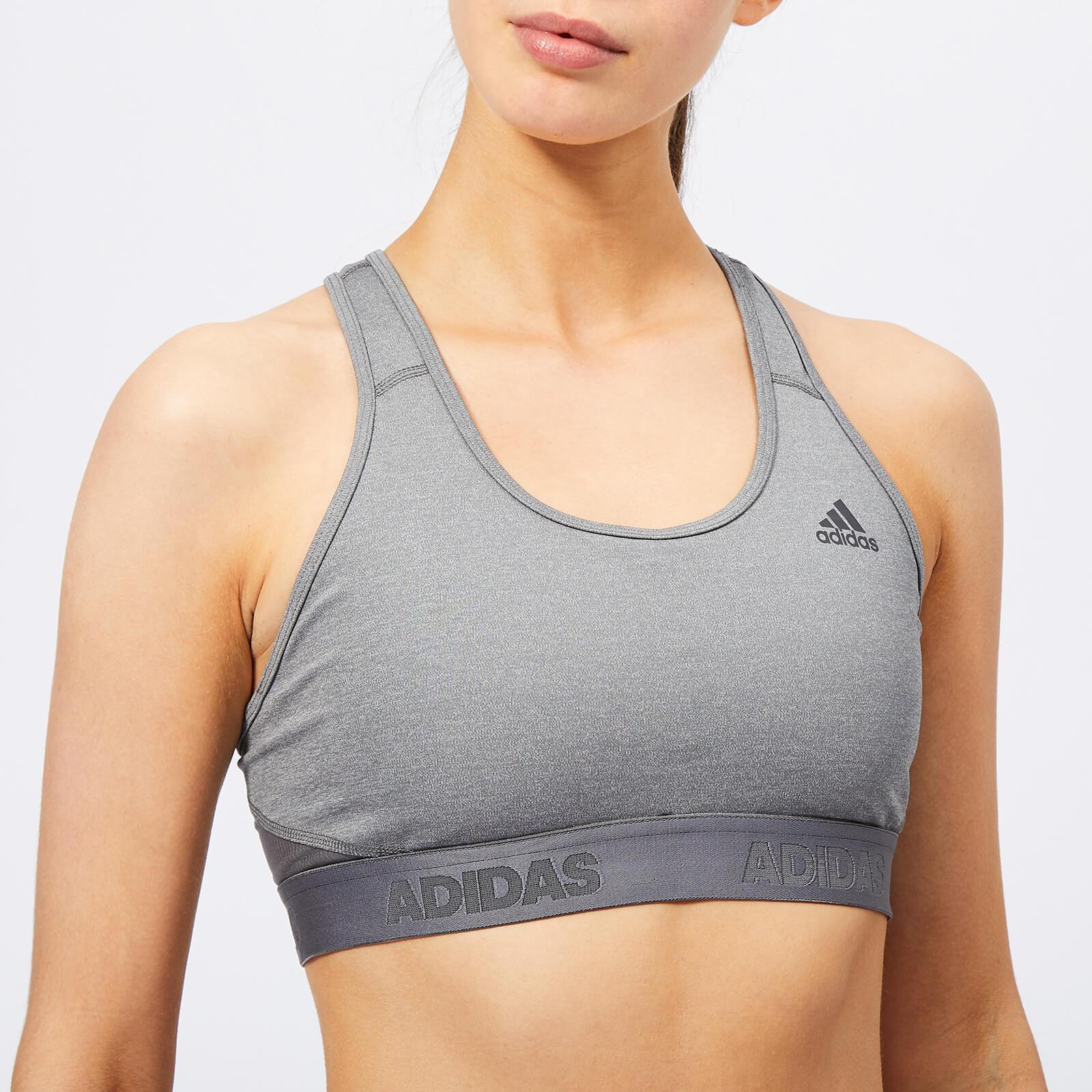 adidas Women's Don't Rest Alphaskin Sports Bra - Grey - S - Grey